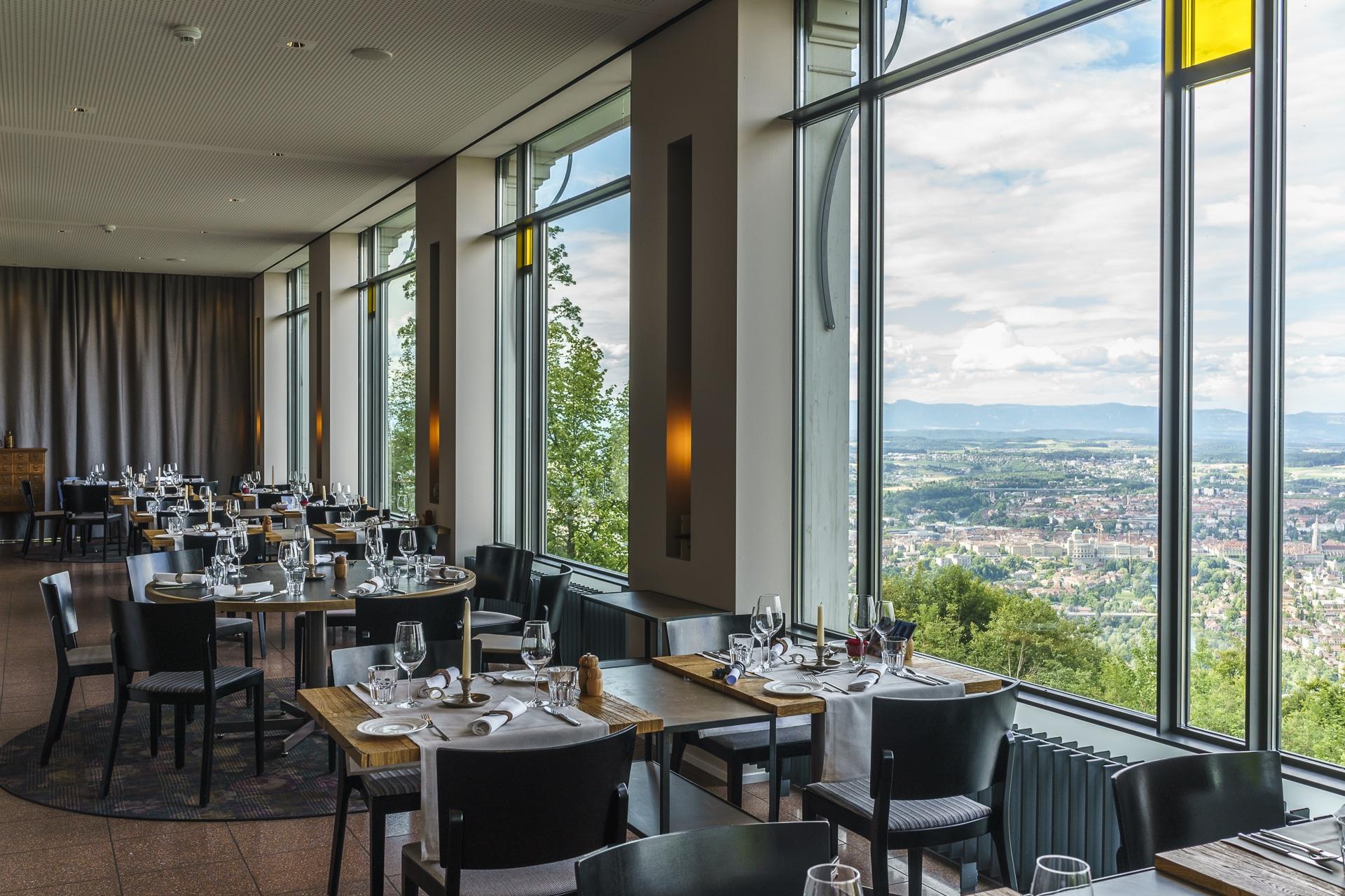 Gurtneres Restaurant Ausblick auf Bern