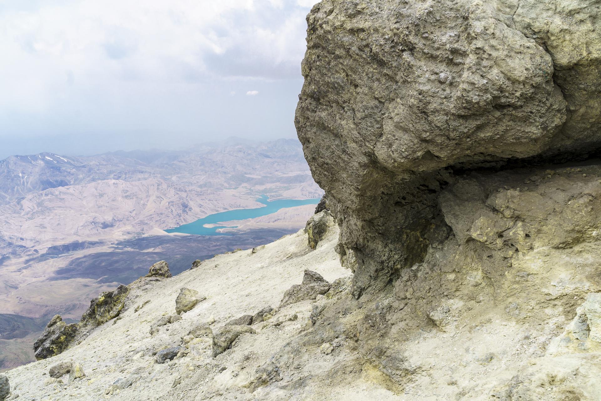 Lar Dam Aussicht Mount Damavand