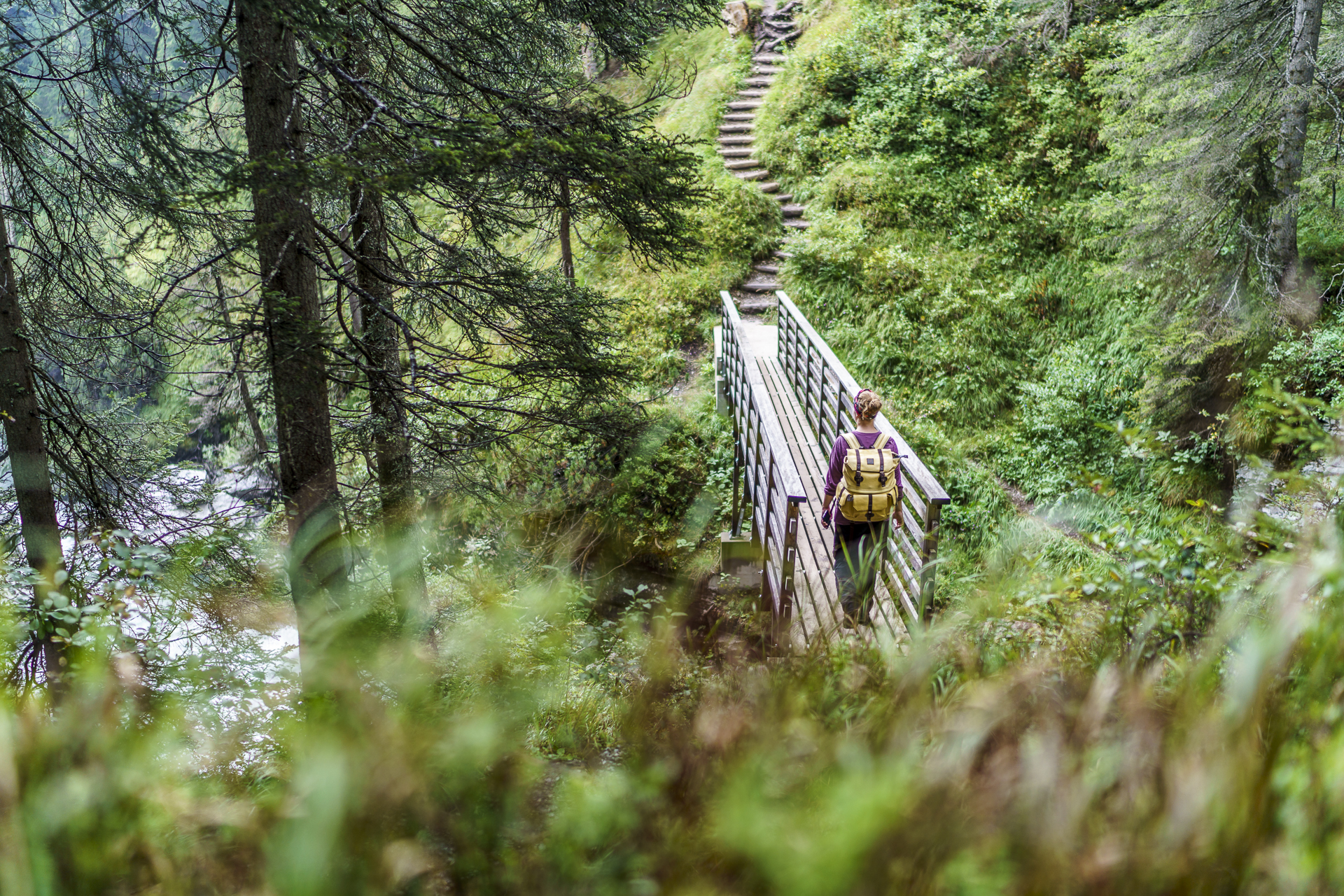 Brückenkonstruktion Jürg Conzetti Flims