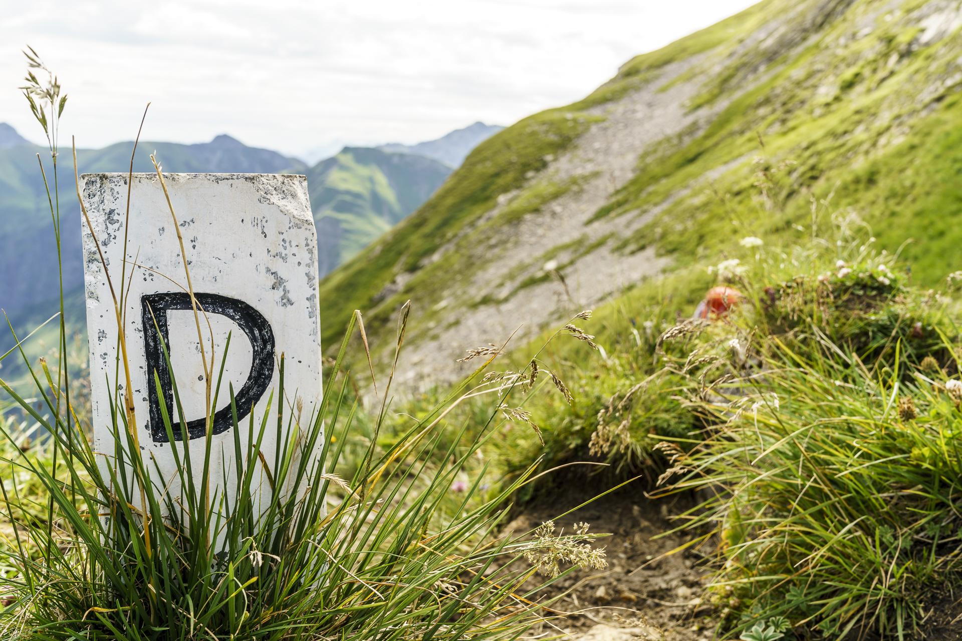 Deutsch österreichische Grenze Allgäuer Alpen