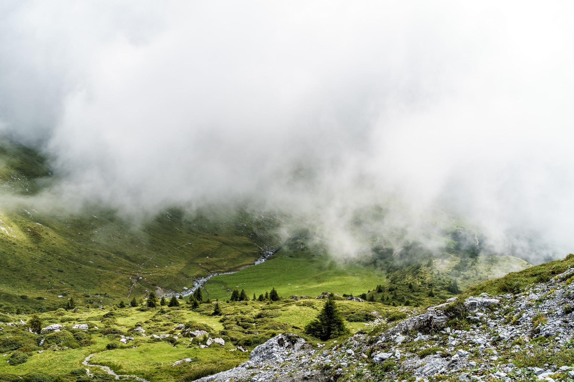 Nebelstimmung Segneshütte