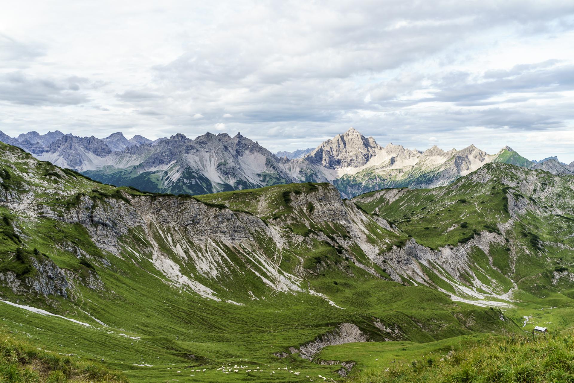 Panorama Allgäuer Alpen Lachenjoch