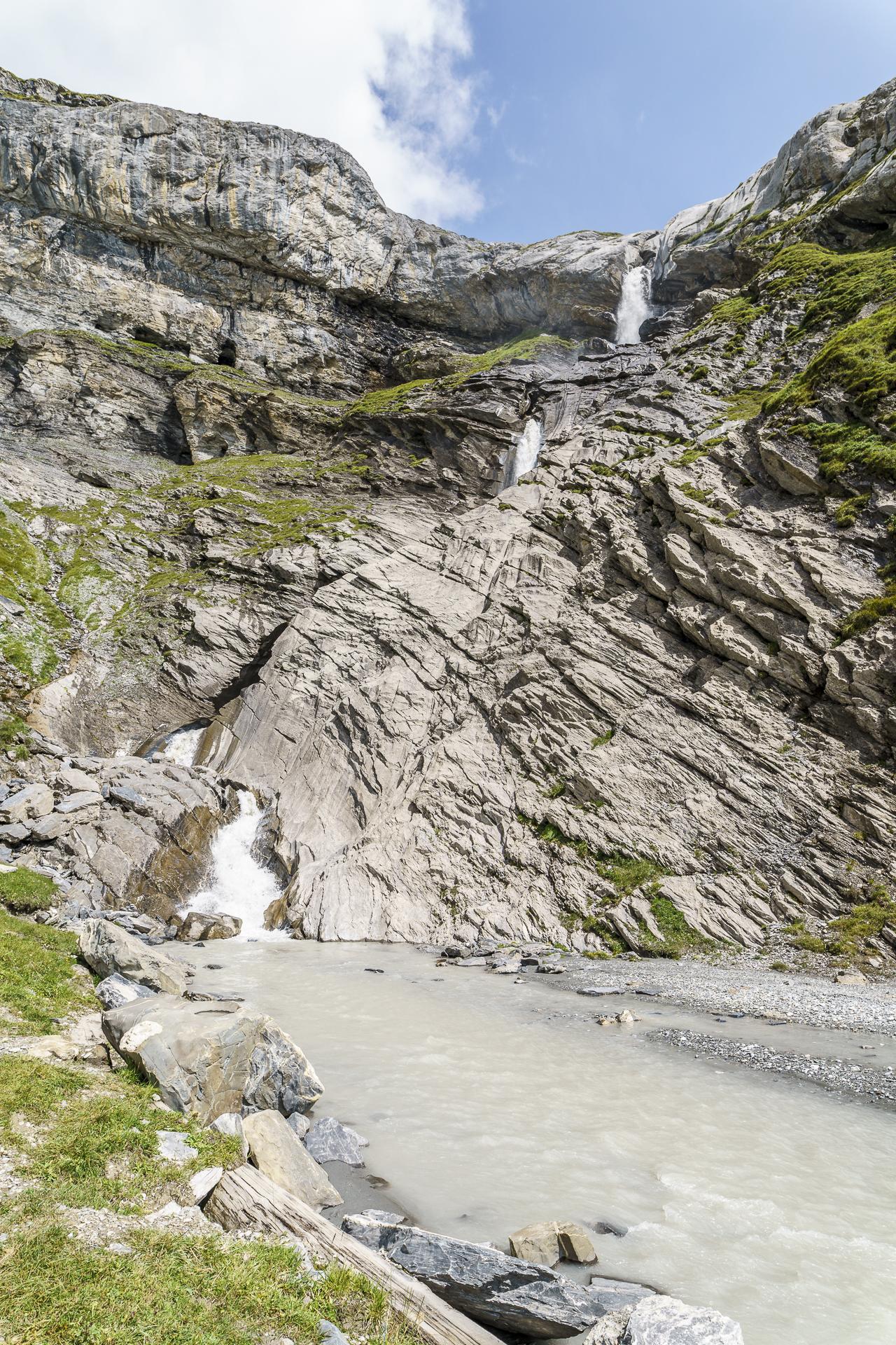 Wasserfall Segnesboden