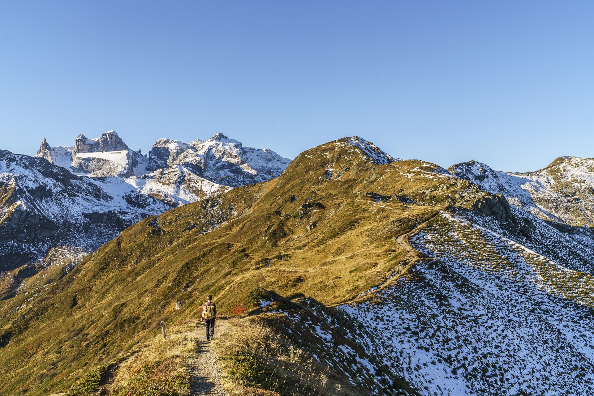 Aufstieg Kreuzjoch Montafon