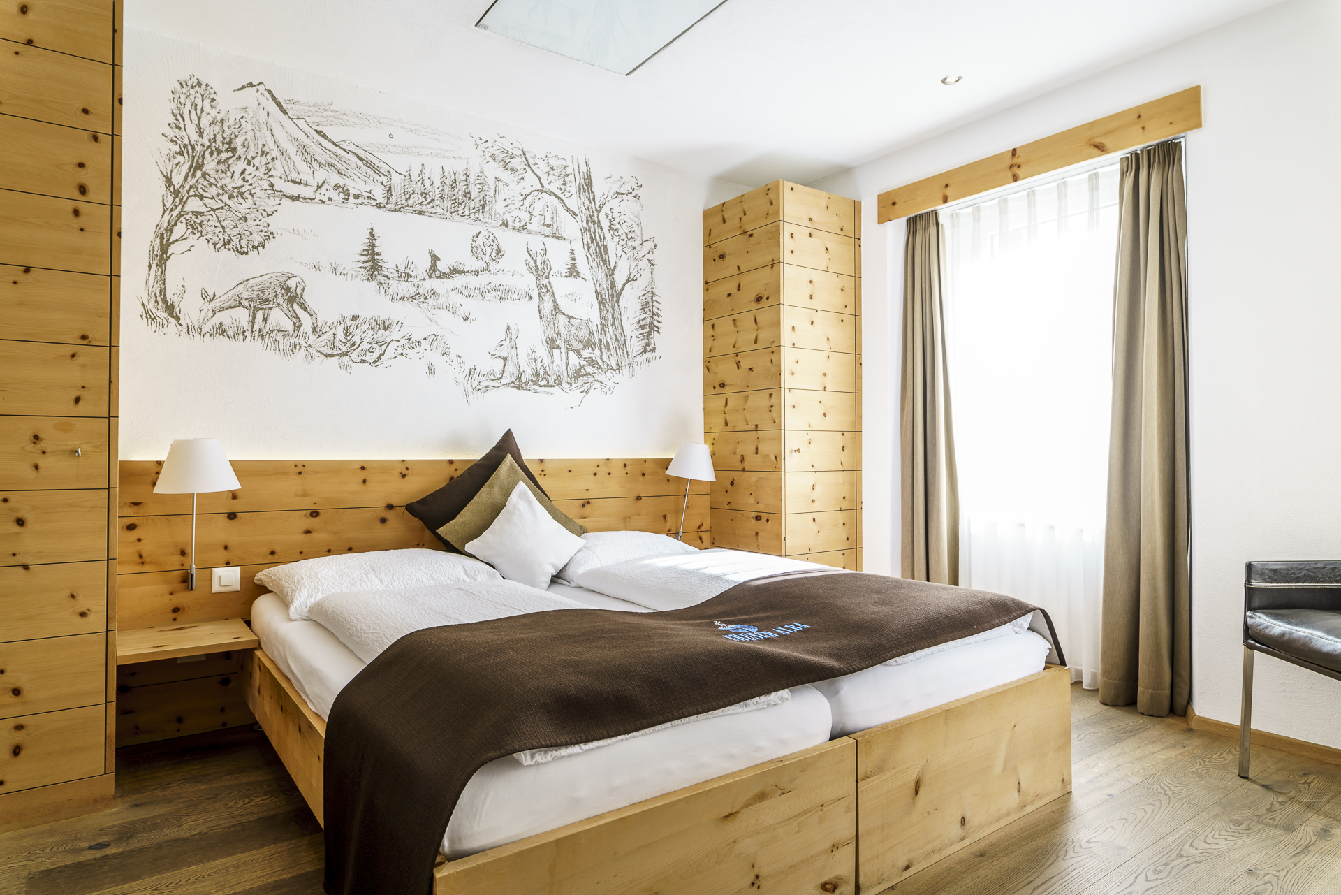 Cursch Alba Zernez Hotelzimmer