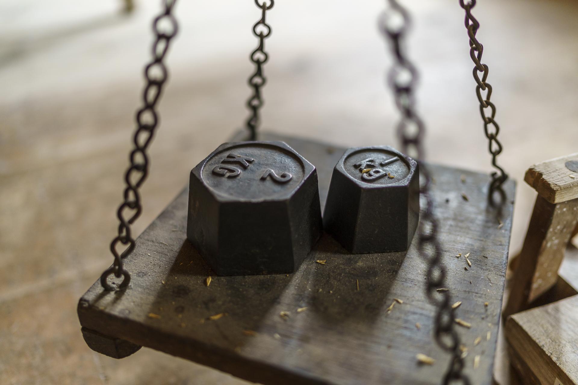 Historische Gewichte
