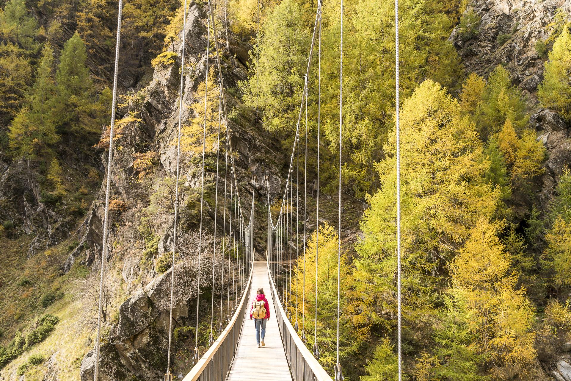 Meraner Höhenweg Hängebrücke