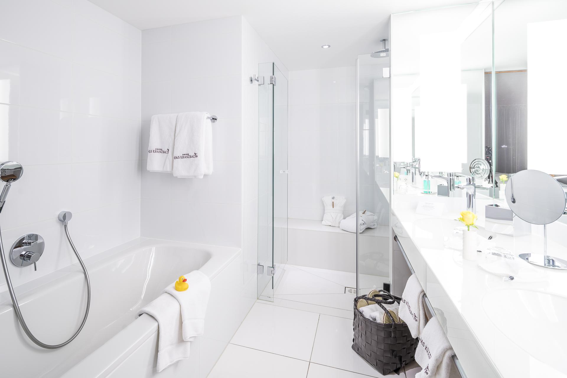 Das Kranzbach Badezimmer