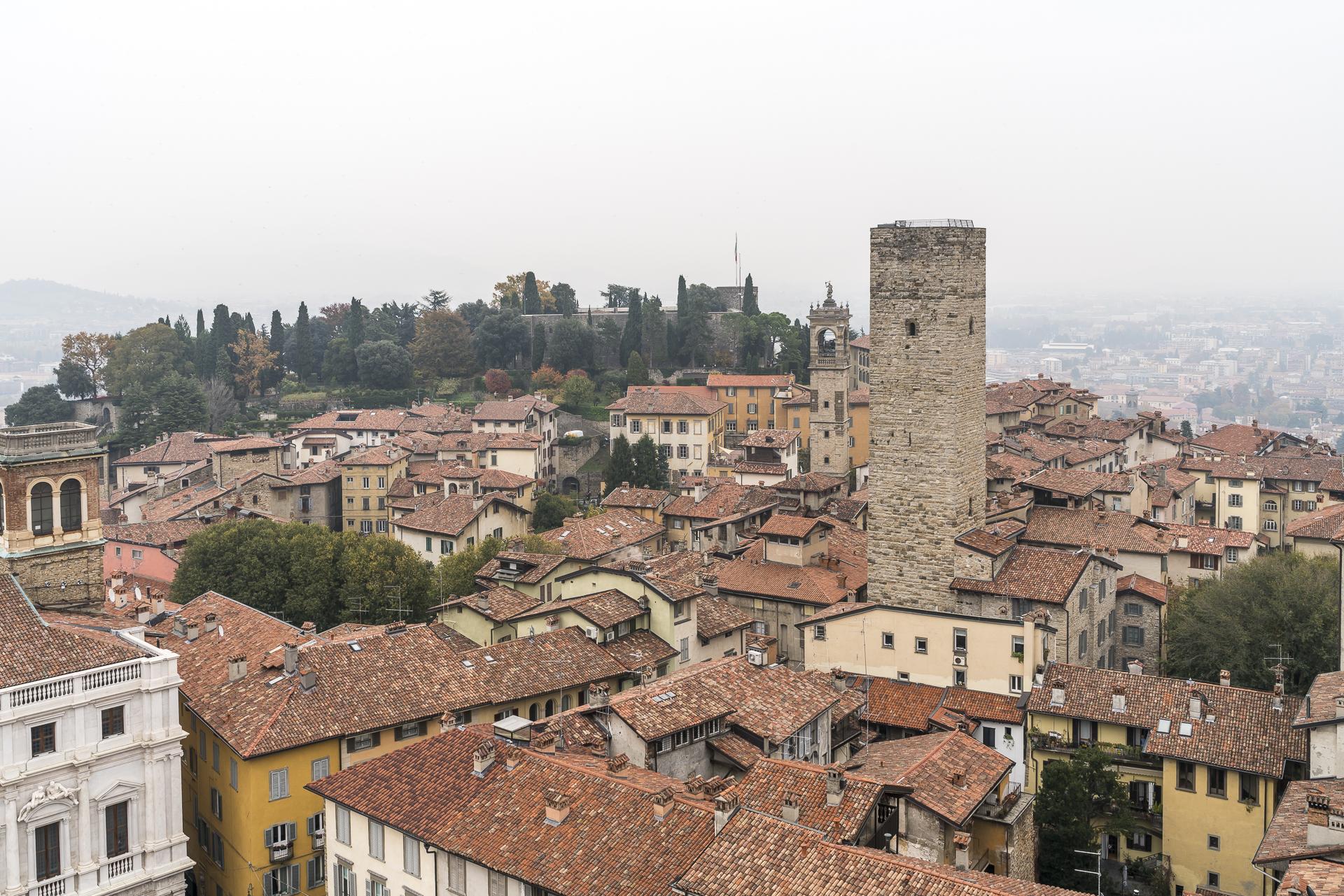 Old Cita Tower Bergamo