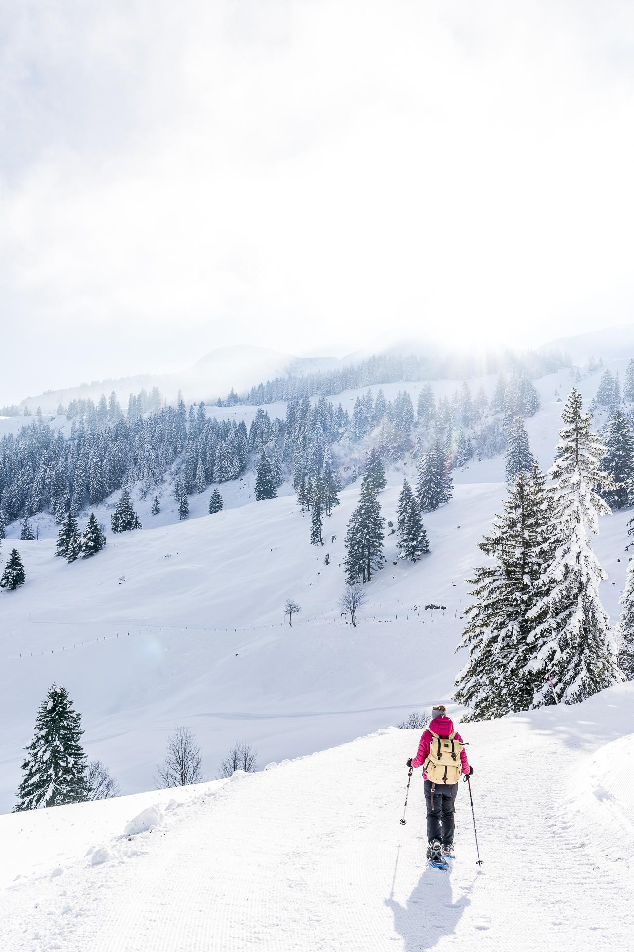 Schneeschuhtrails Stoos Zentralschweiz