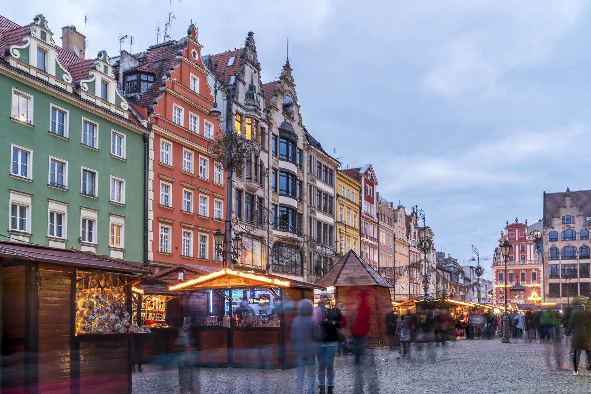 Weihnachtsmarkt Wroclaw Rathausplatz