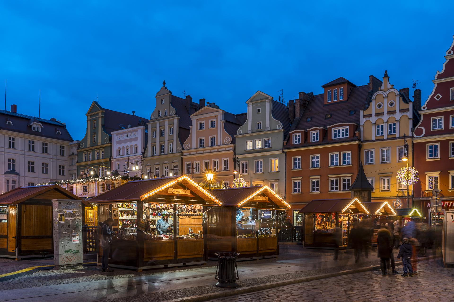 Wroclaw Weihnachtsmarkt Stadtzentrum