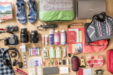 Packen für Weltreise