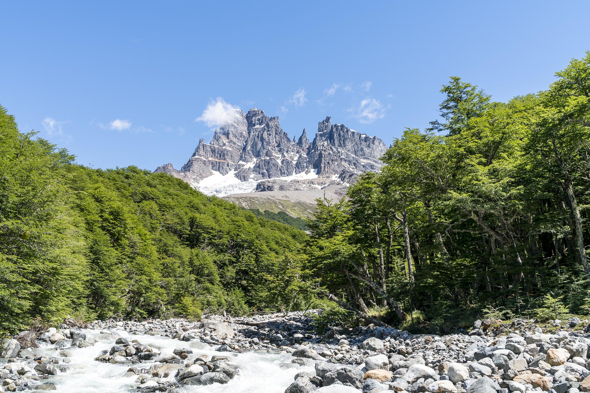 Campamento El Bosque mit Cerro Castillo