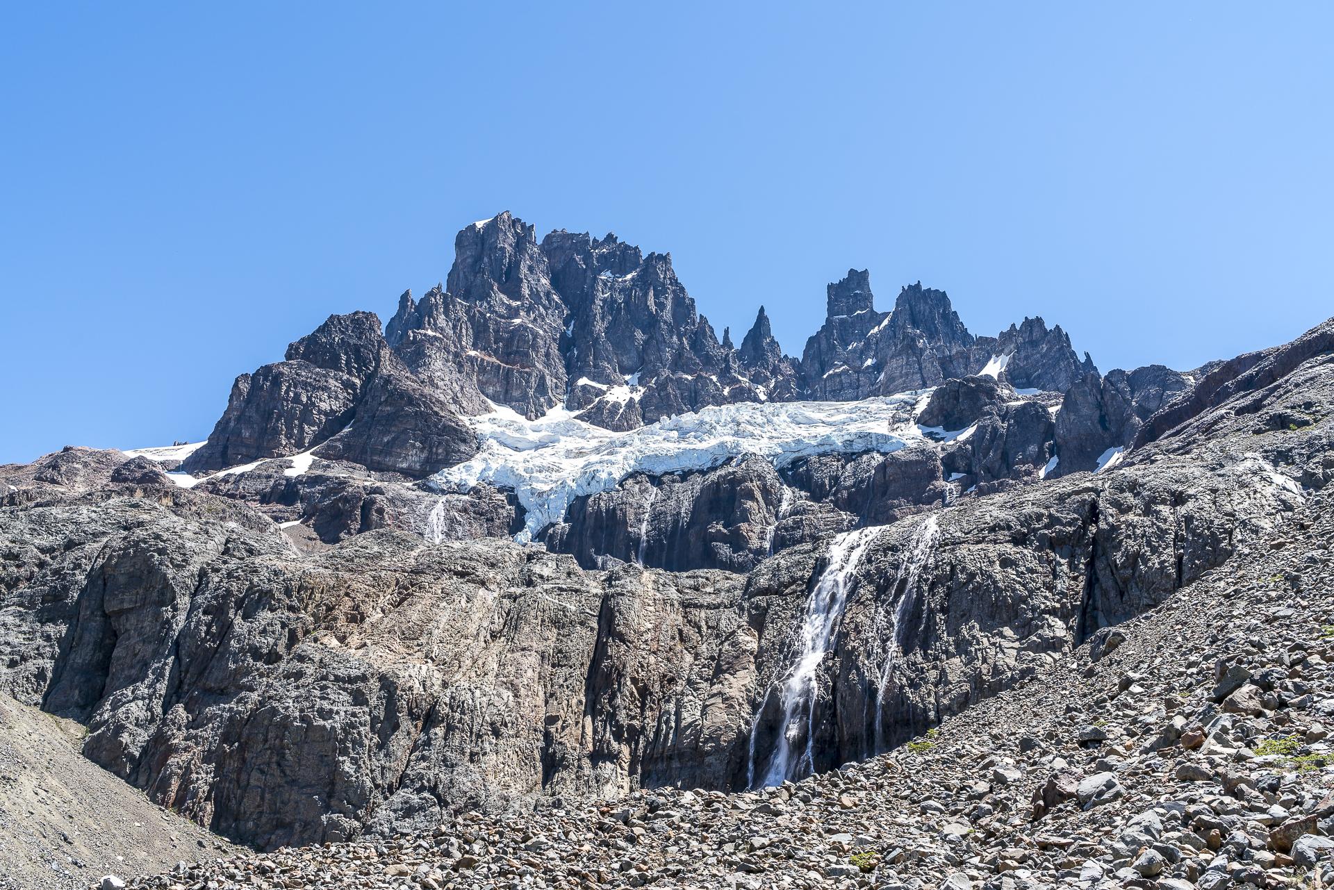 Gletscher Cerro Castillo Patagonien