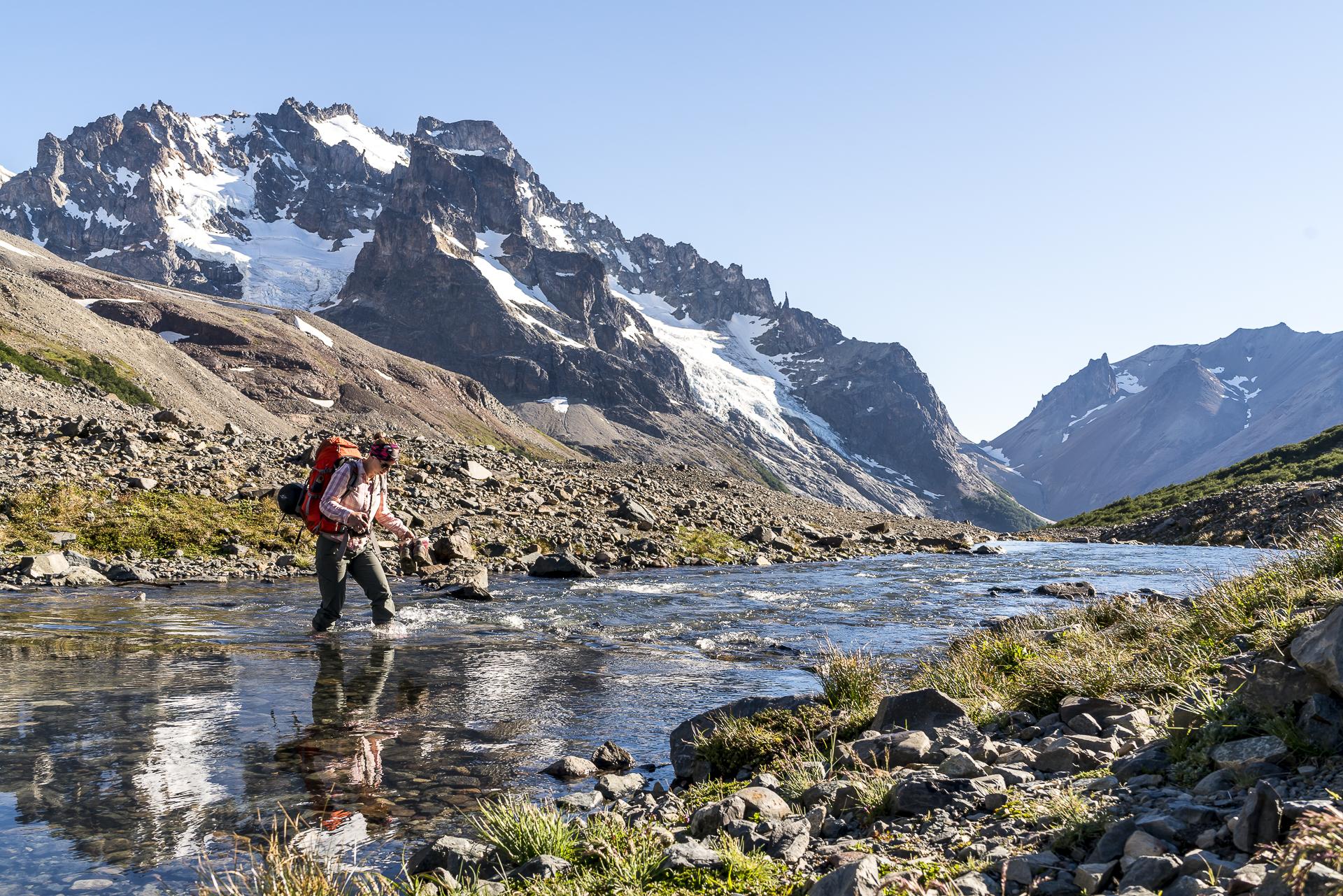 Flussdurchquerungen Cerro Castillo Trekking