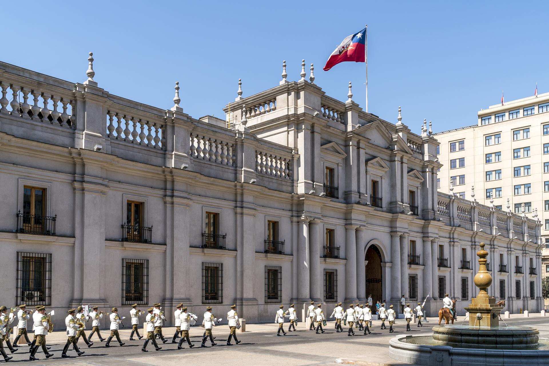 Palacia de la Moneda Santiago de Chile