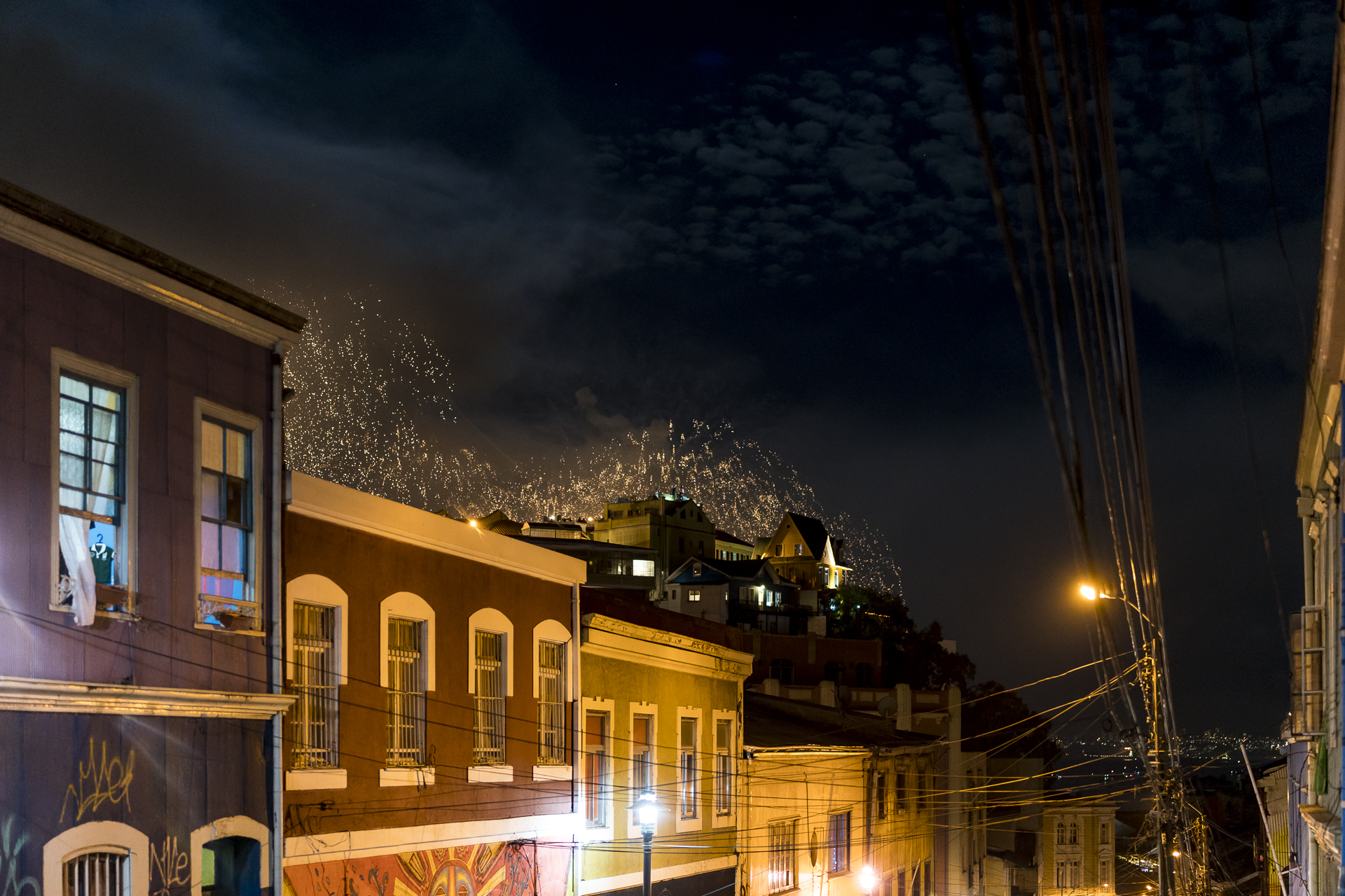 Silvester in Valparaiso Chile