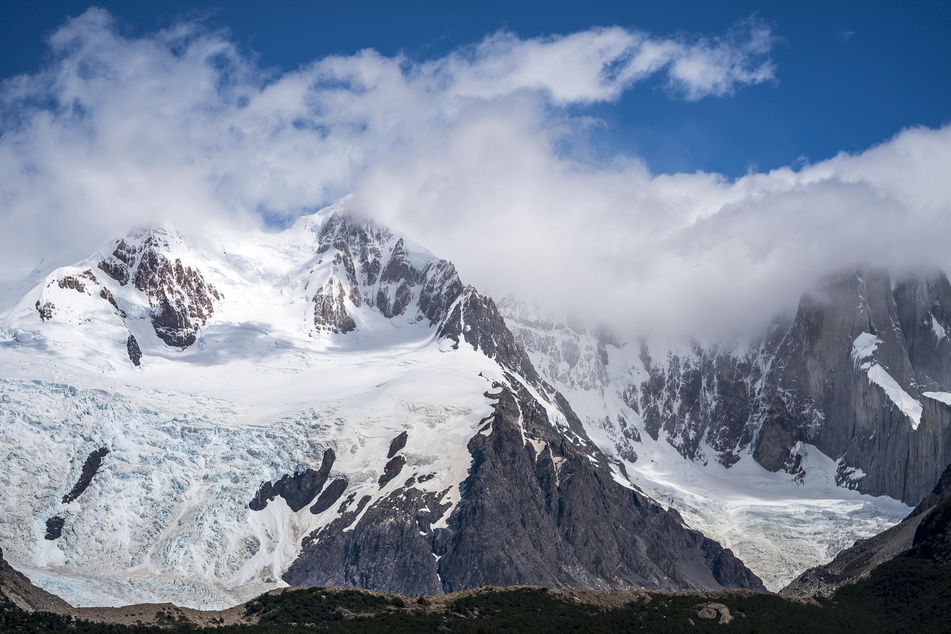 Detailaufnahme Fitz Roy Cerro Torre Bergkette