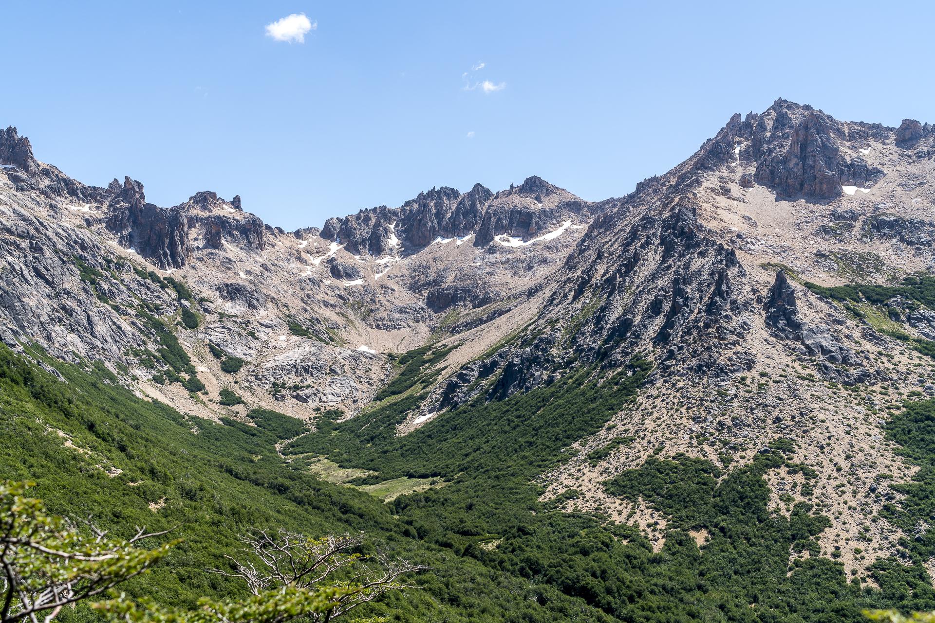 Bariloche Aufstieg zum Refugio Frey Aussicht
