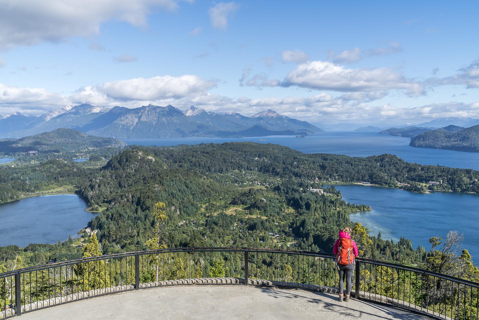 Ausblick vom Cerro Campanario bei San Carlos de Bariloche