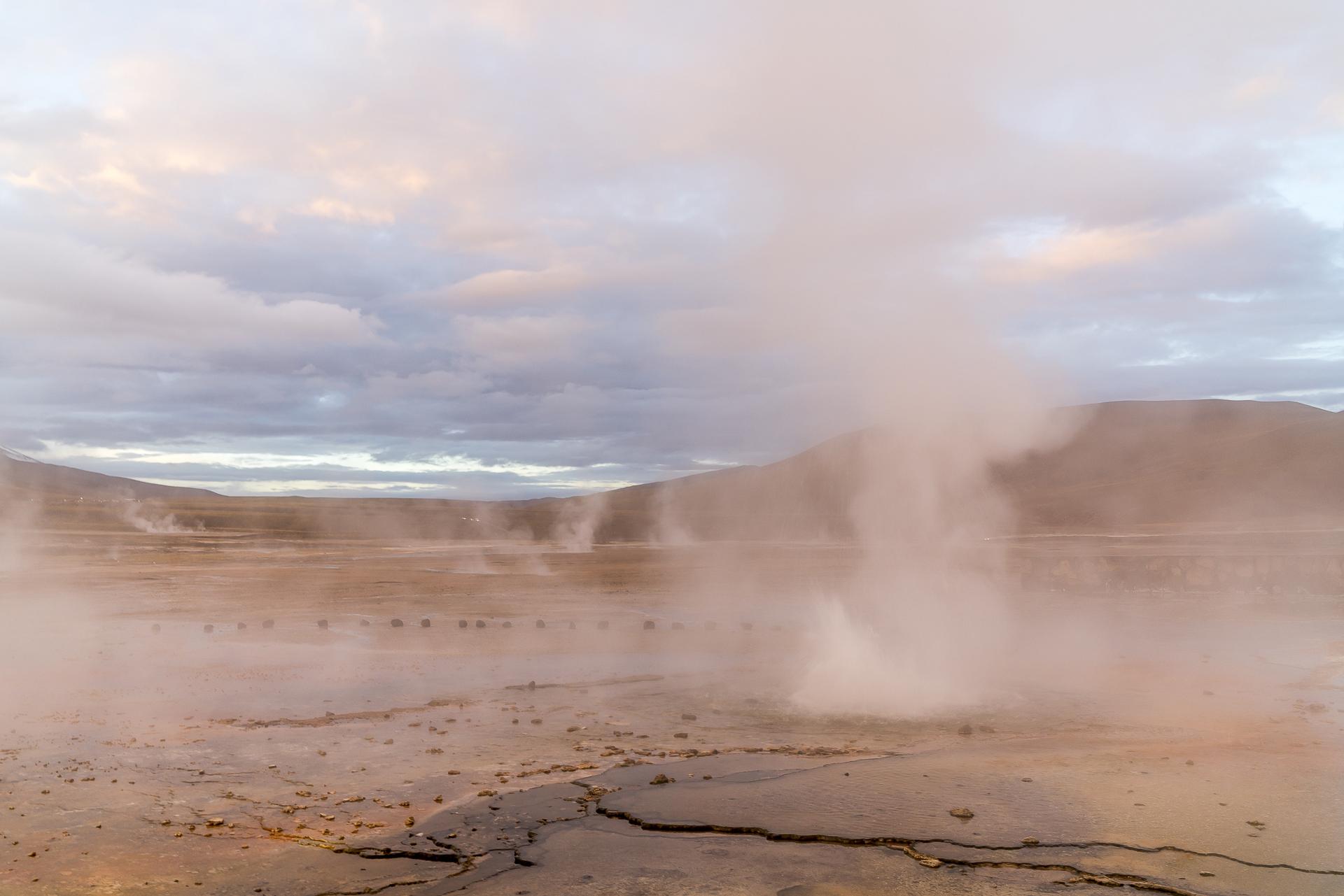 Geysir del Tatio Sonnenaufgang