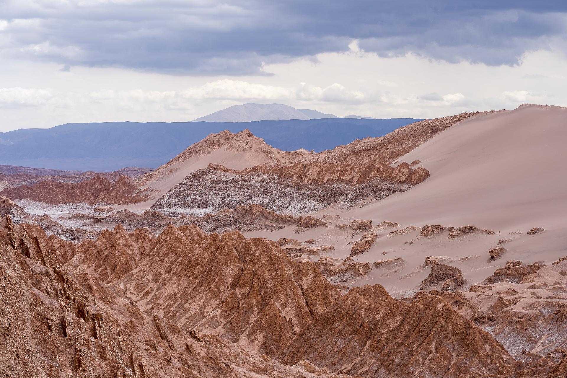 Landschaften im Valle de la Luna