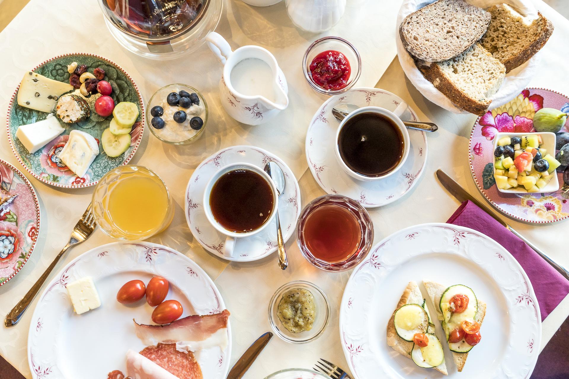 Frühstück im Schloss Plars Algund