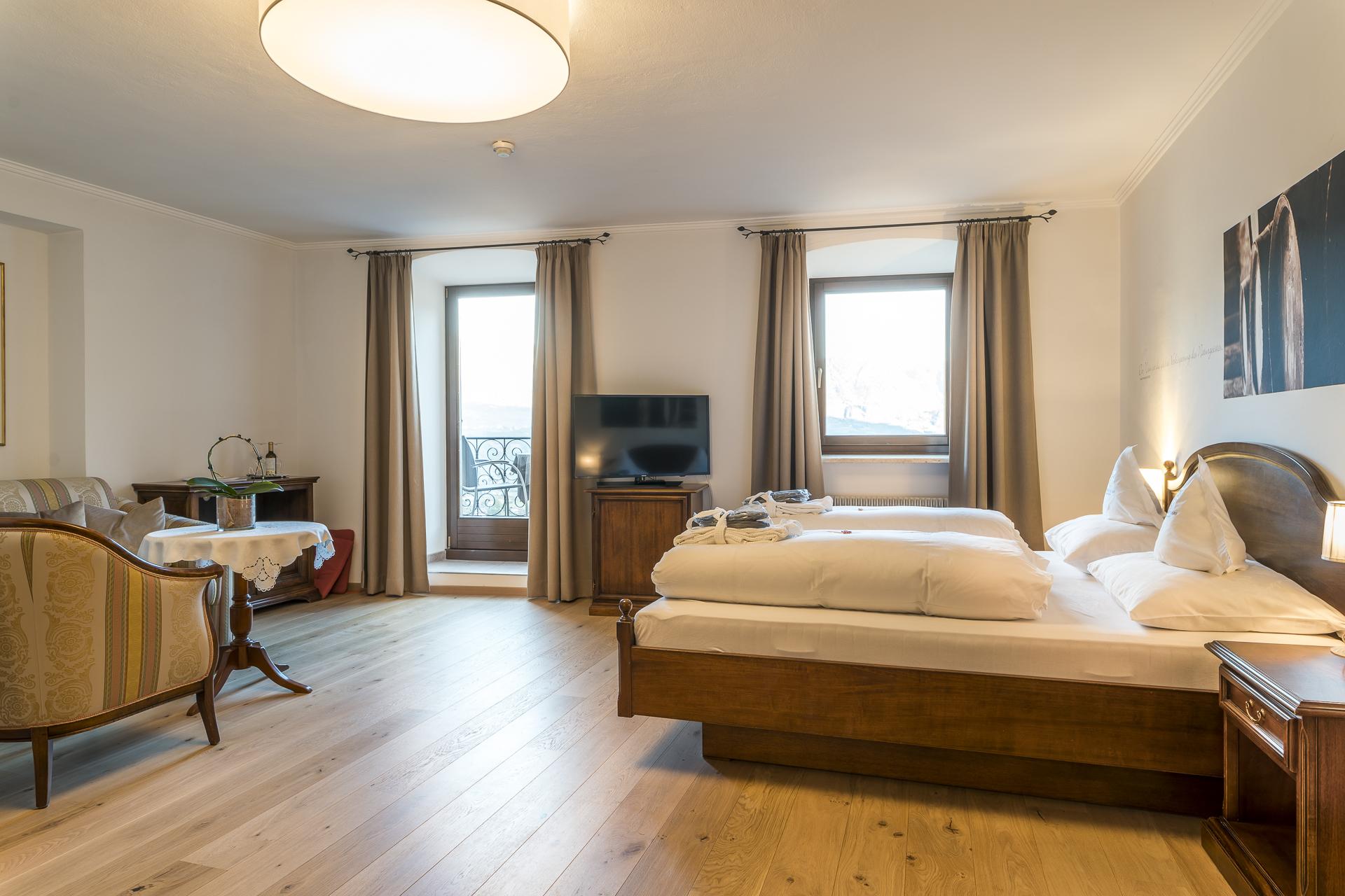 Schloss Plars Hotelzimmer