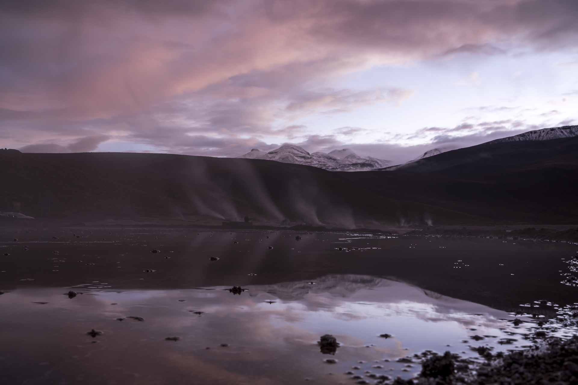 Sonnenaufgang Geysir del Tatio