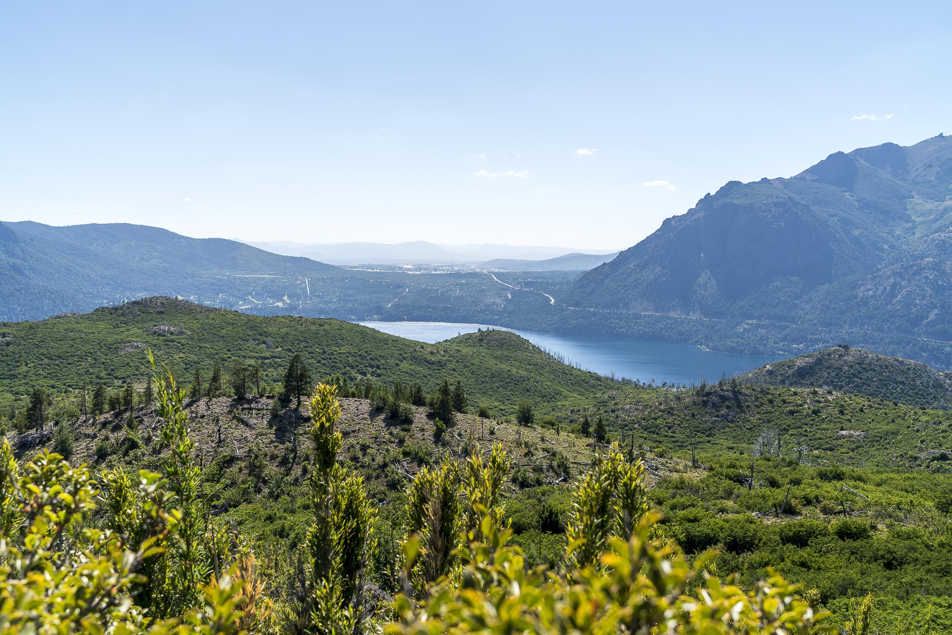 Sicht von Villa Catedral auf Bariloche