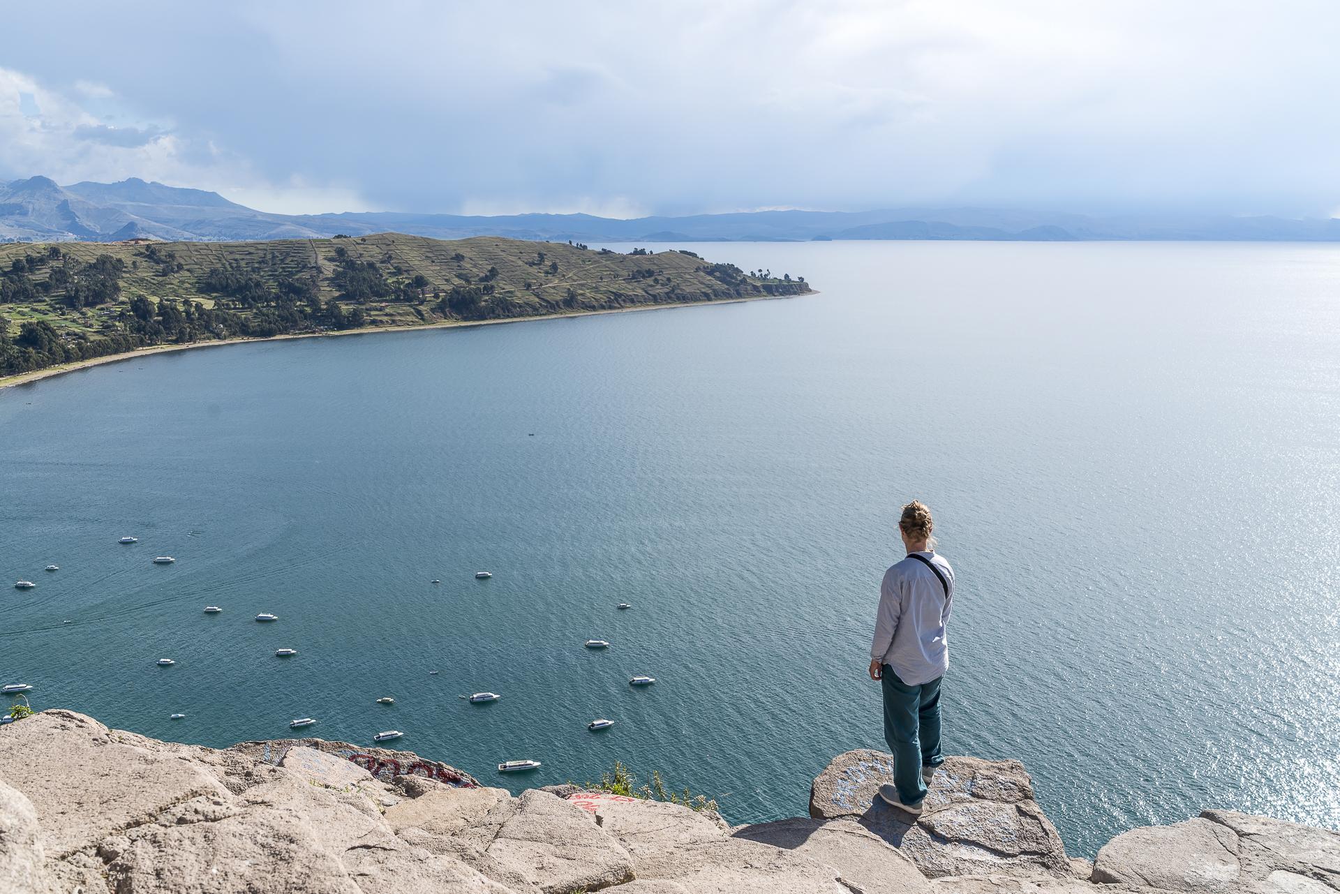 Cerro Calvario Aussicht über Titicacasee