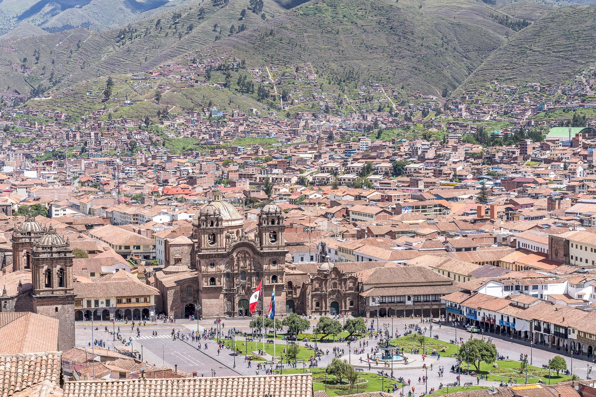 Aussicht über Cusco