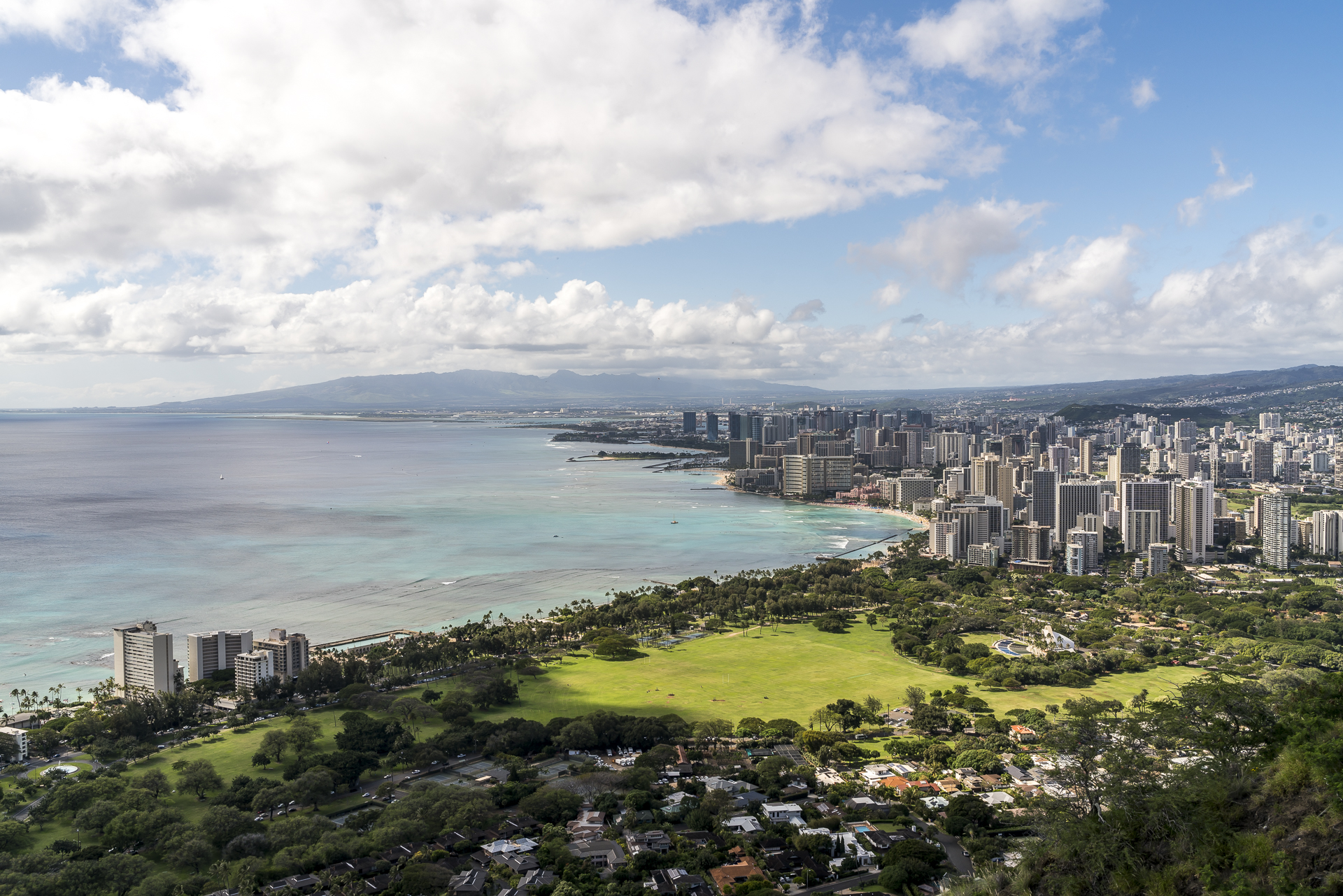 Panoramablick Honolulu Waikiki