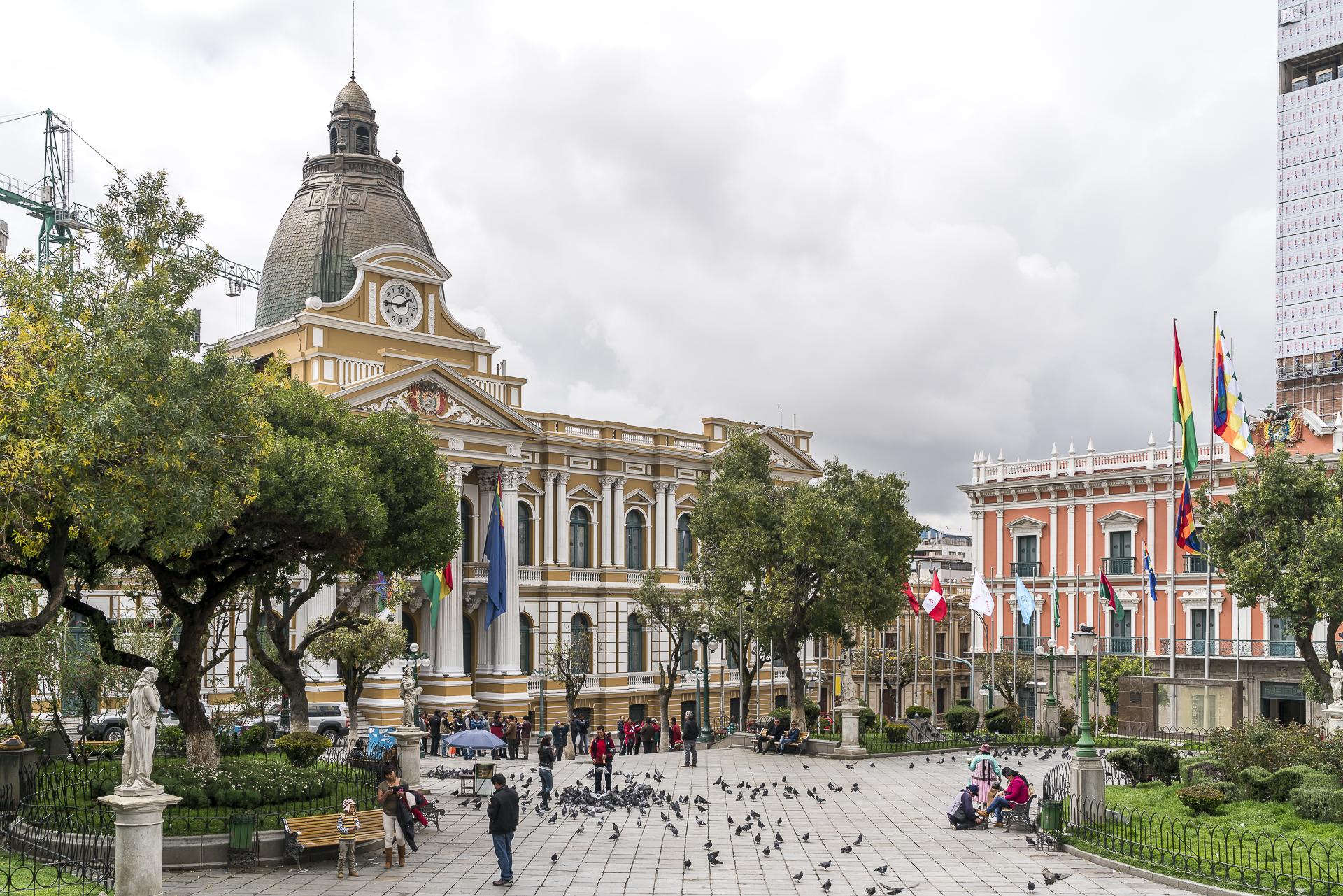 Plaza Murillo La Paz Bolivien