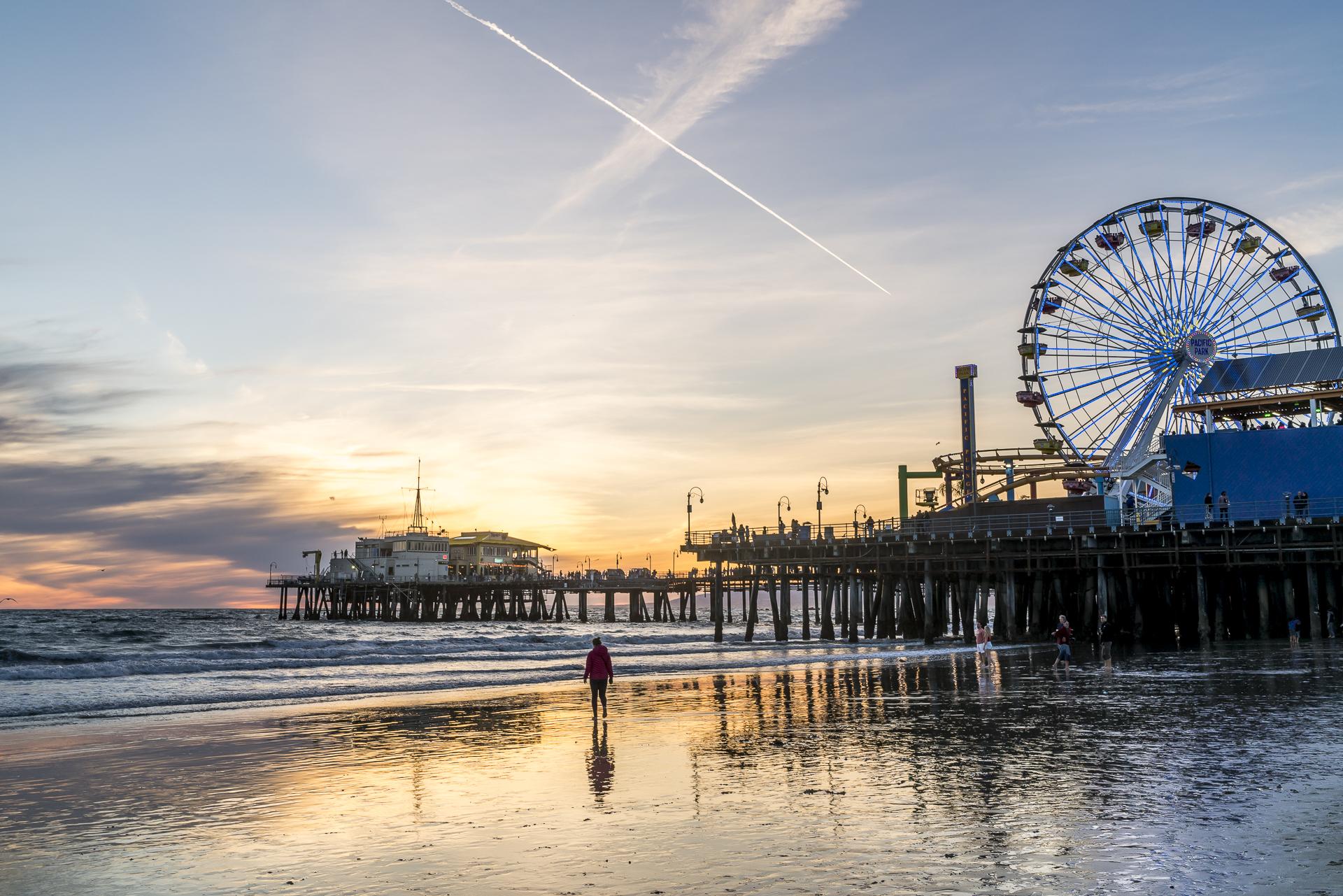 Santa Monica Kalifornien Sonnenuntergang