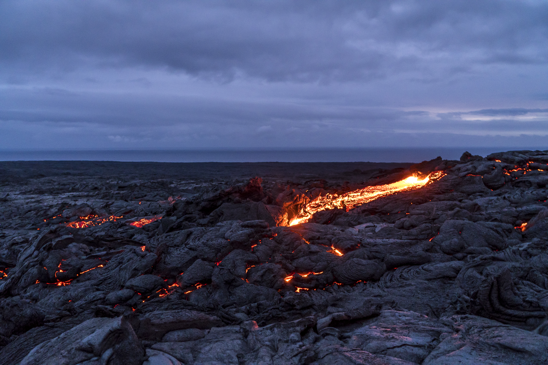 Lavafelder Big Island Hawaii