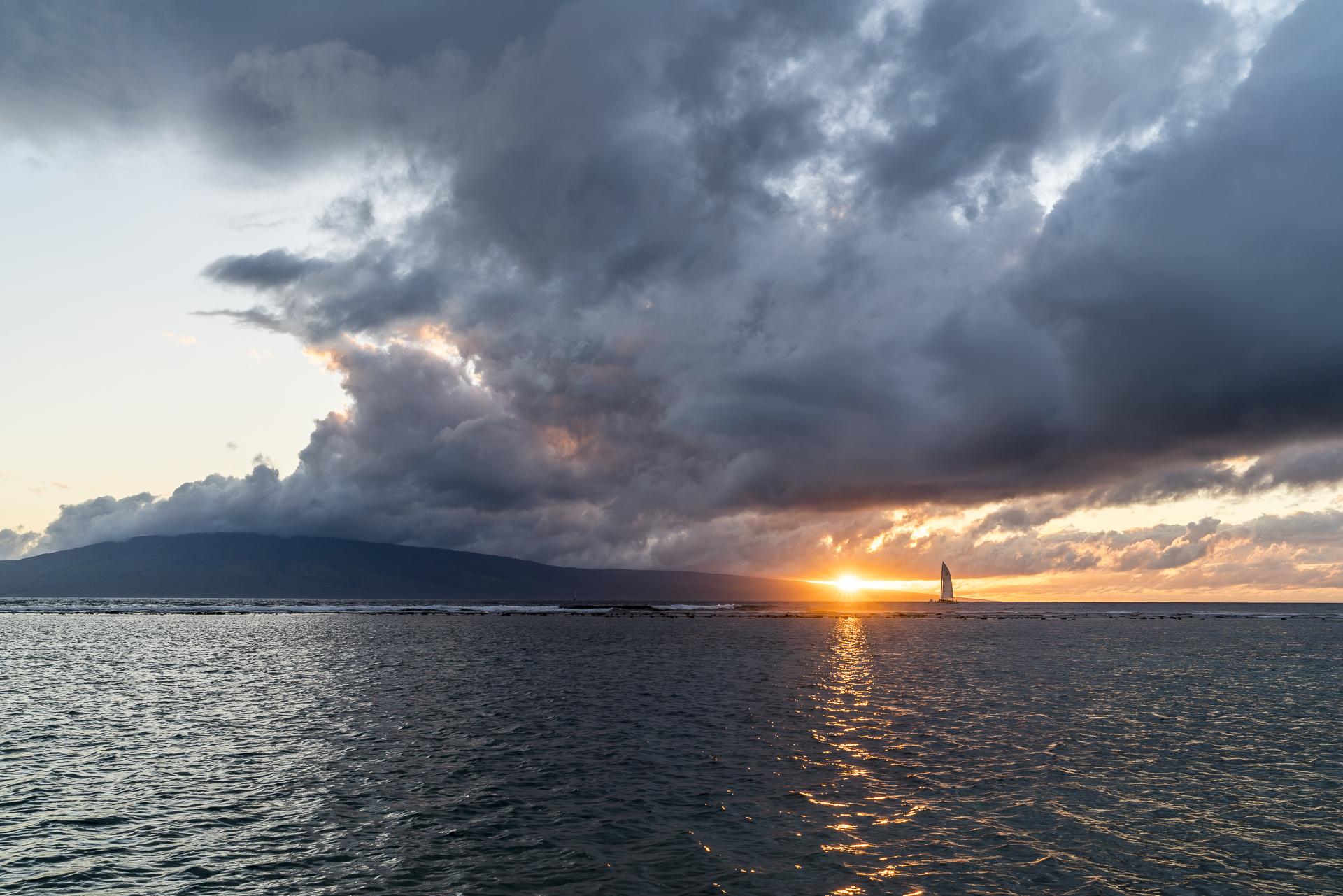 Maui Sonnenuntergang Lahaina