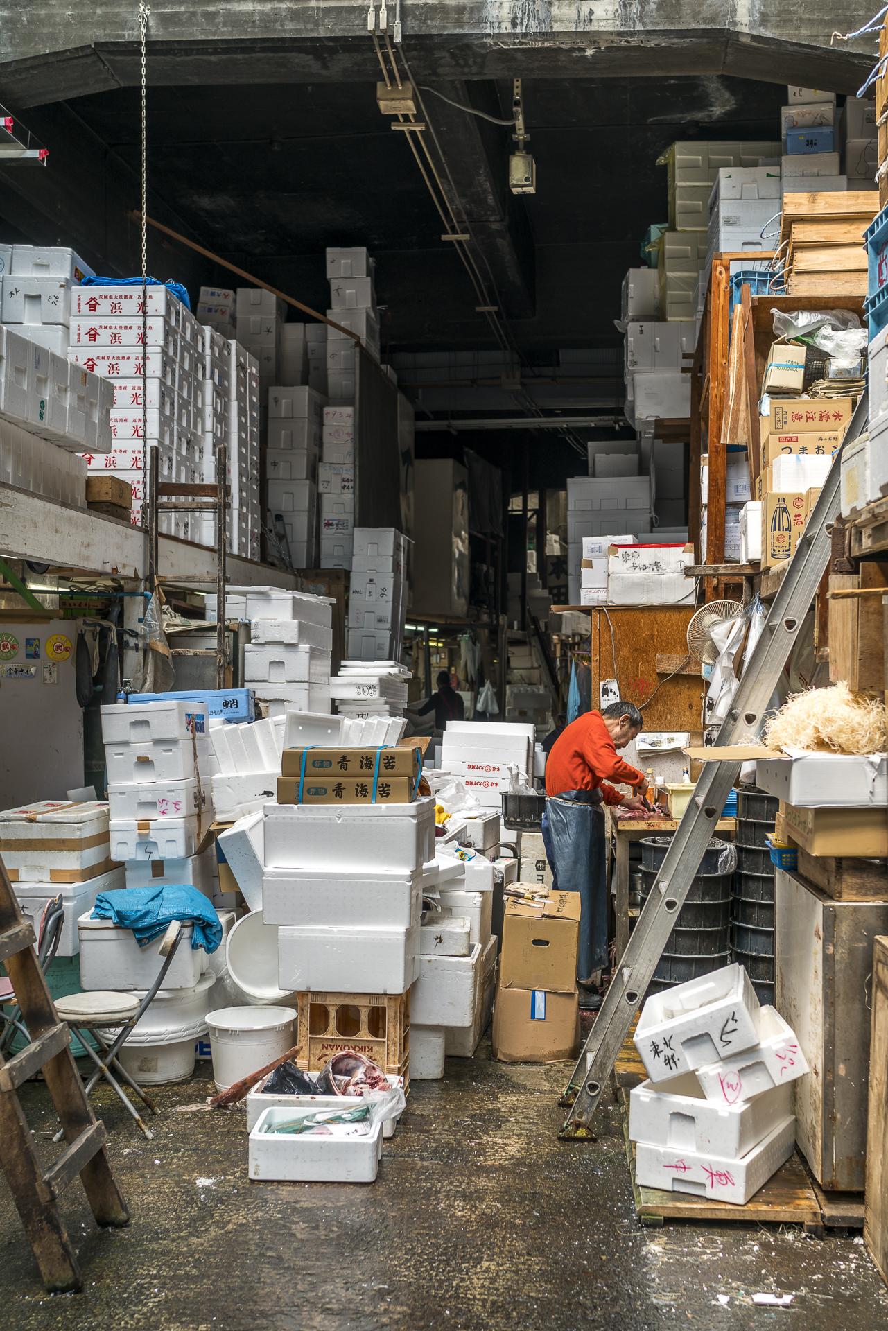 Tsukji Fischmarkt Tokio