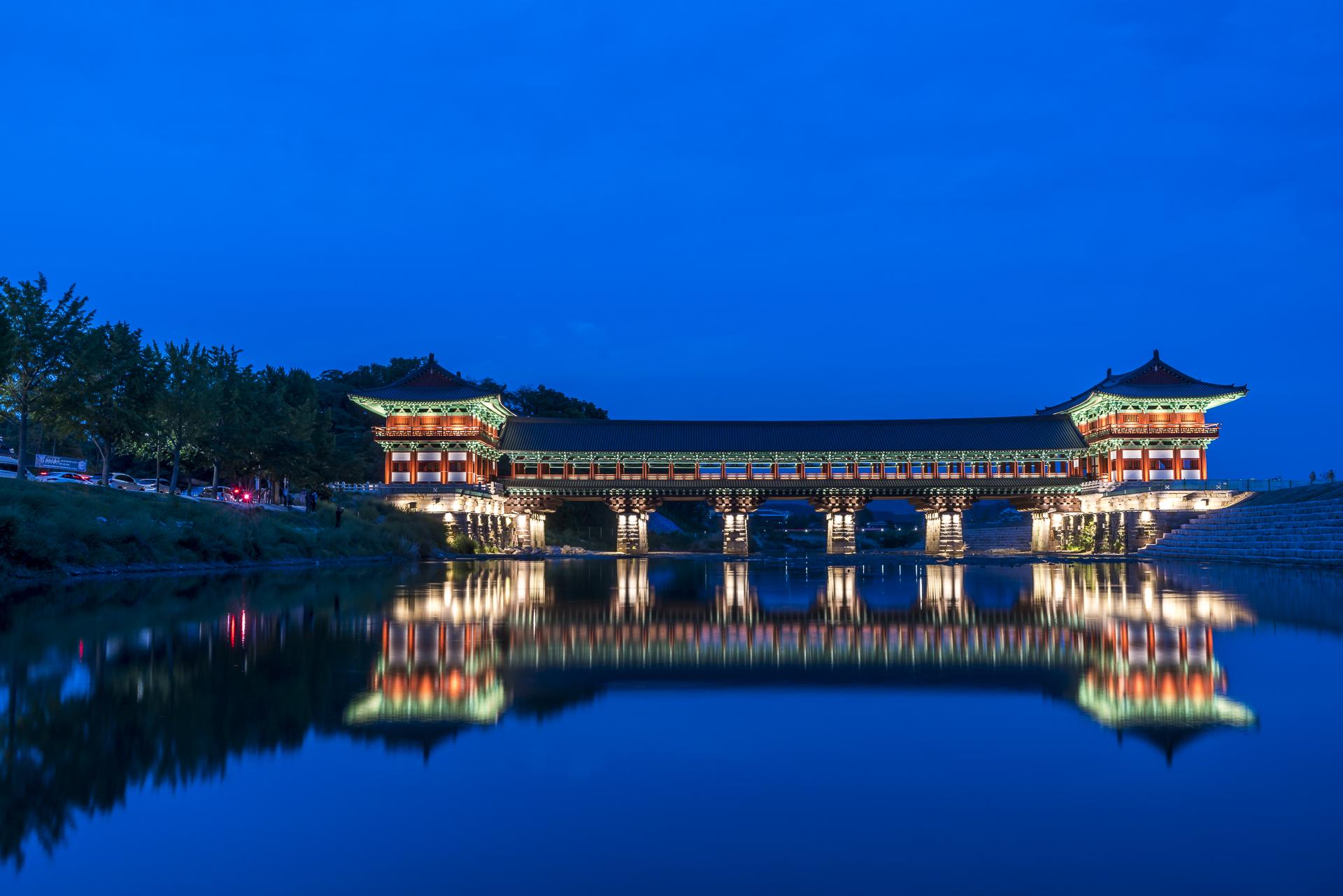 Wokjeong Brücke Gyeongju Südkorea