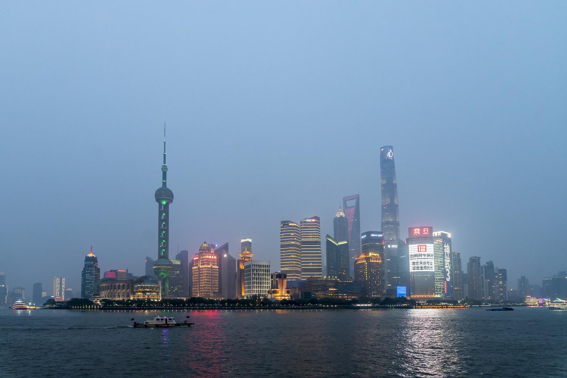 Blue Hour Bund Shanghai
