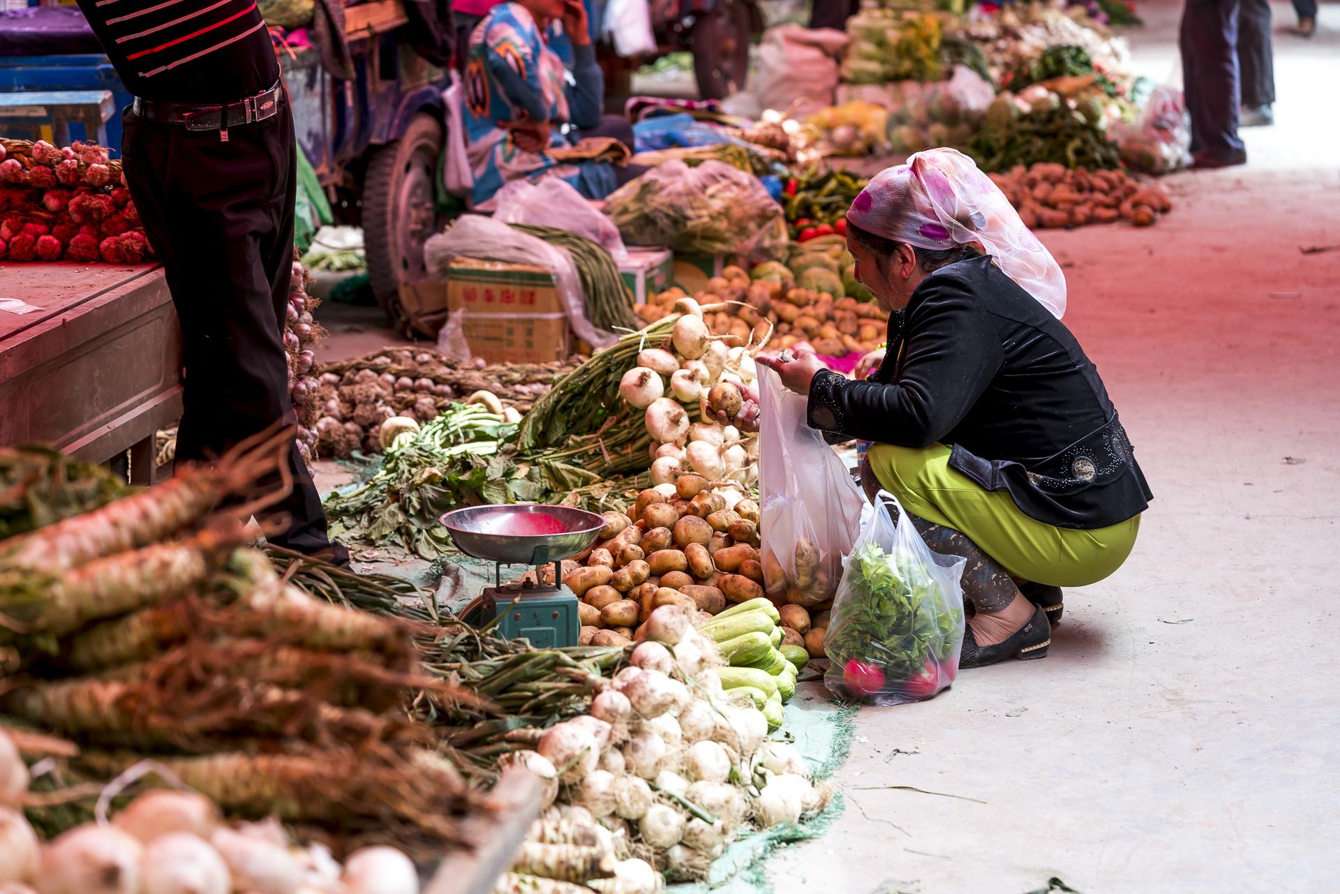 Markttreiben in Kaschgar China
