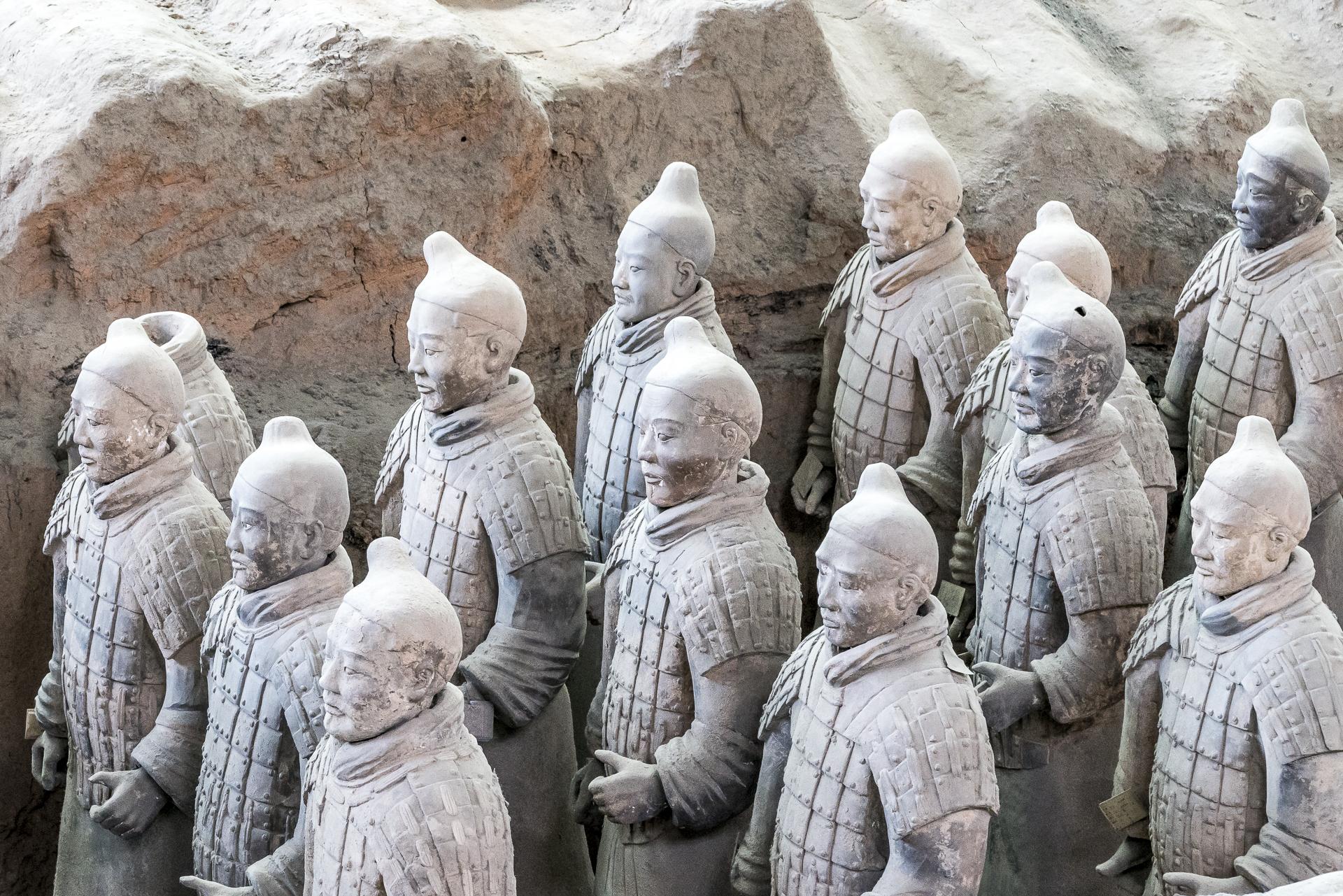 Soldaten im Mausoleum Qin Shihuangdis Xi'an