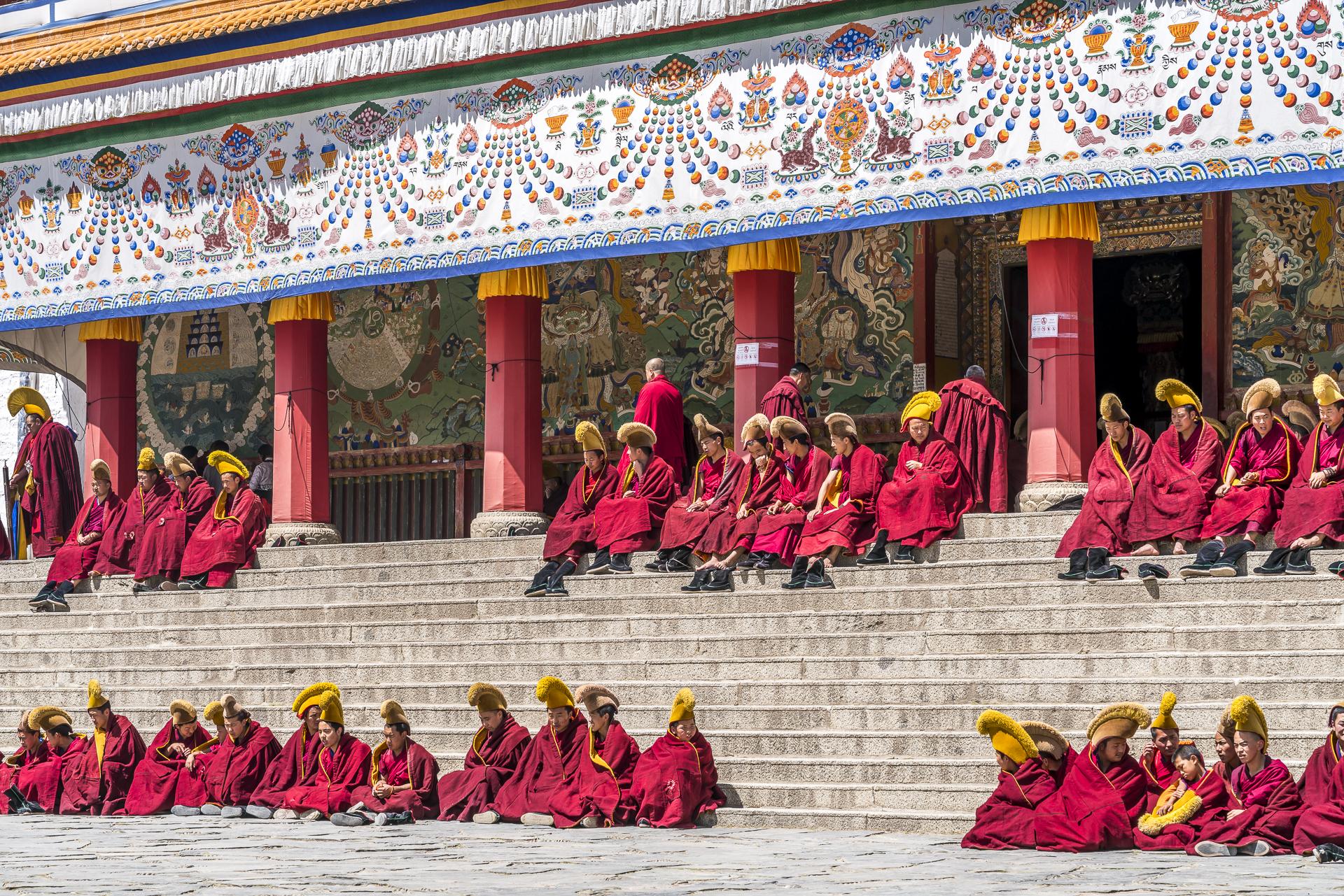 Mönche im Labrang Kloster Xiahe