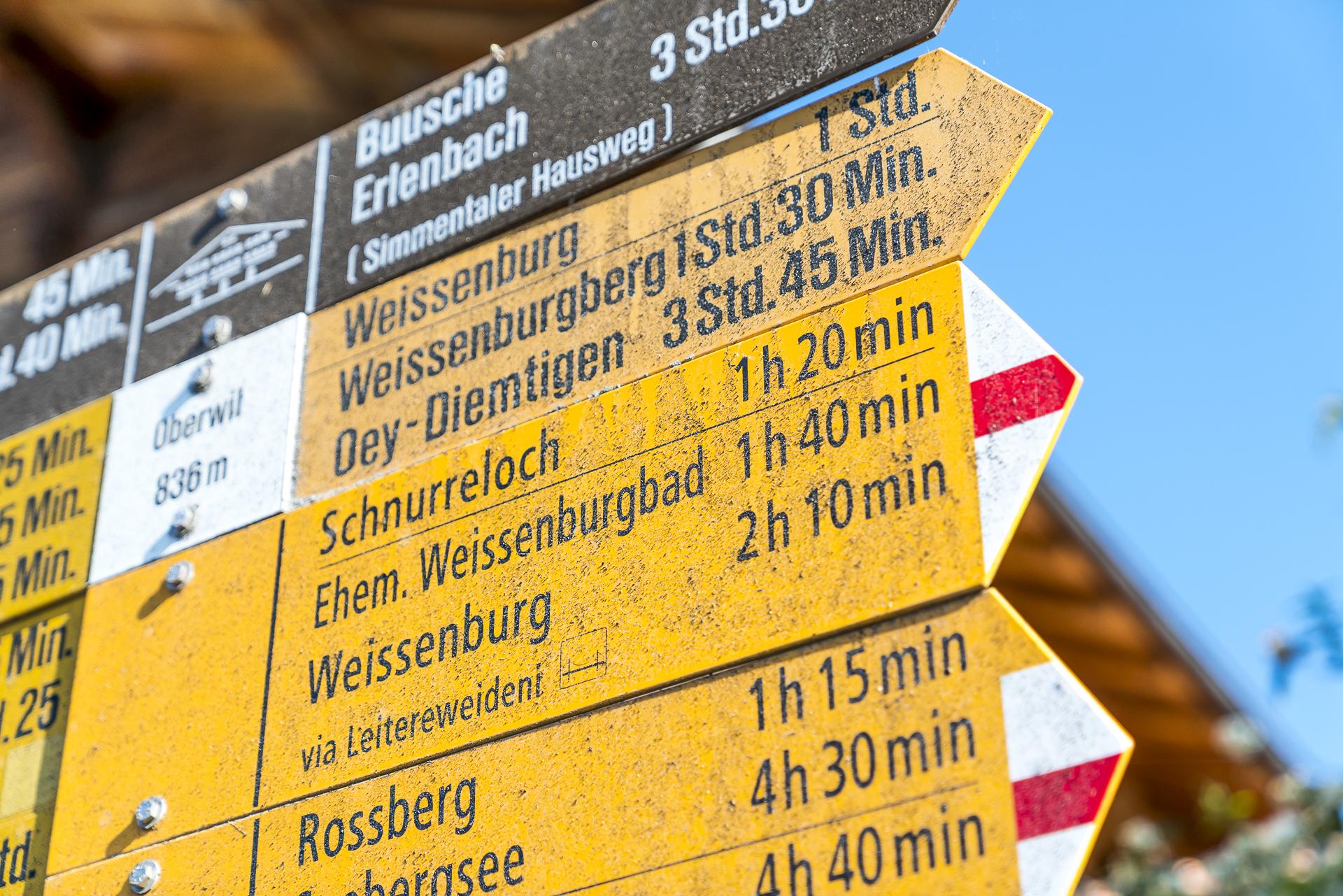 Wanderwege in Oberwil im Simmental
