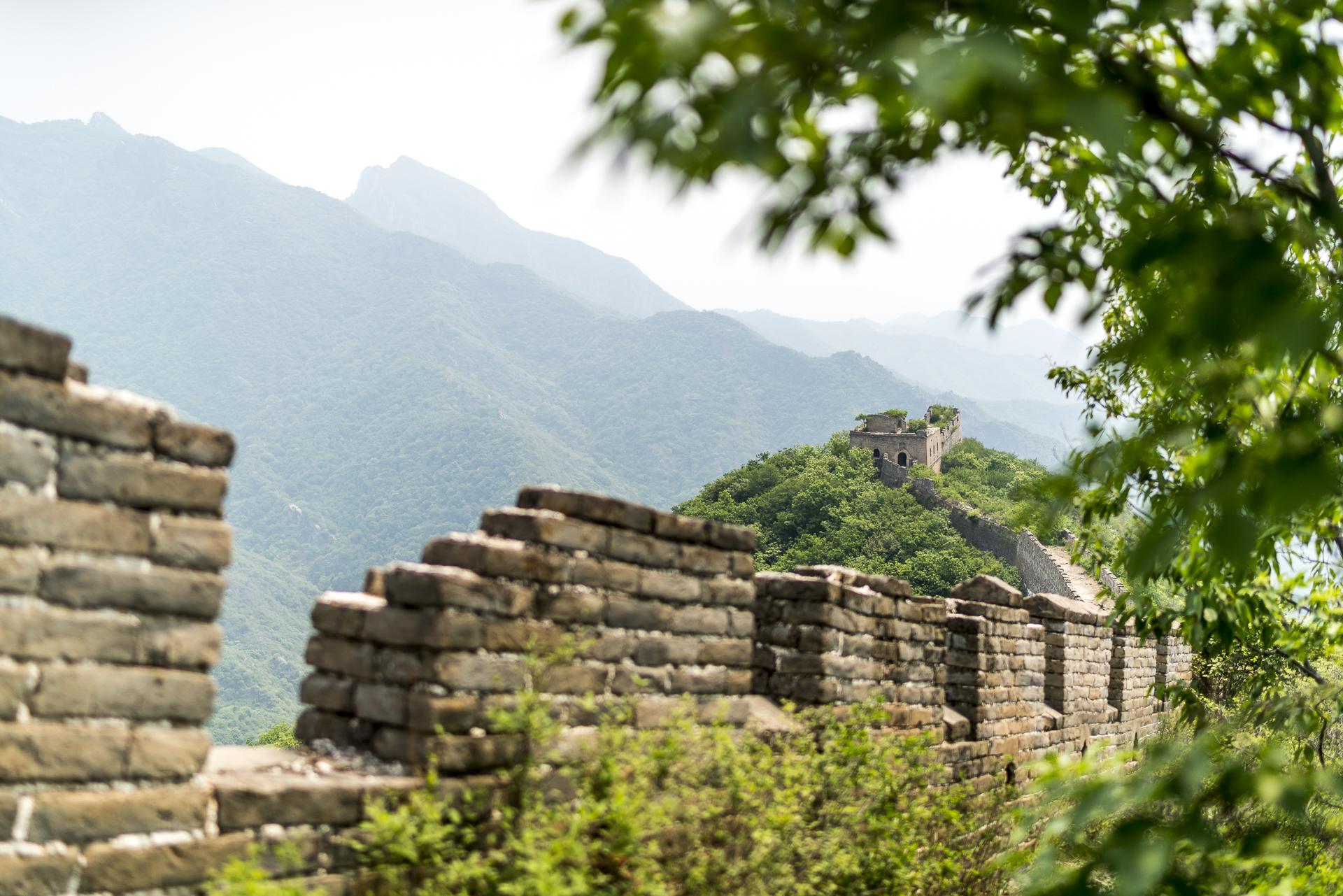 Unrestaurierter Teil der grossen Mauer