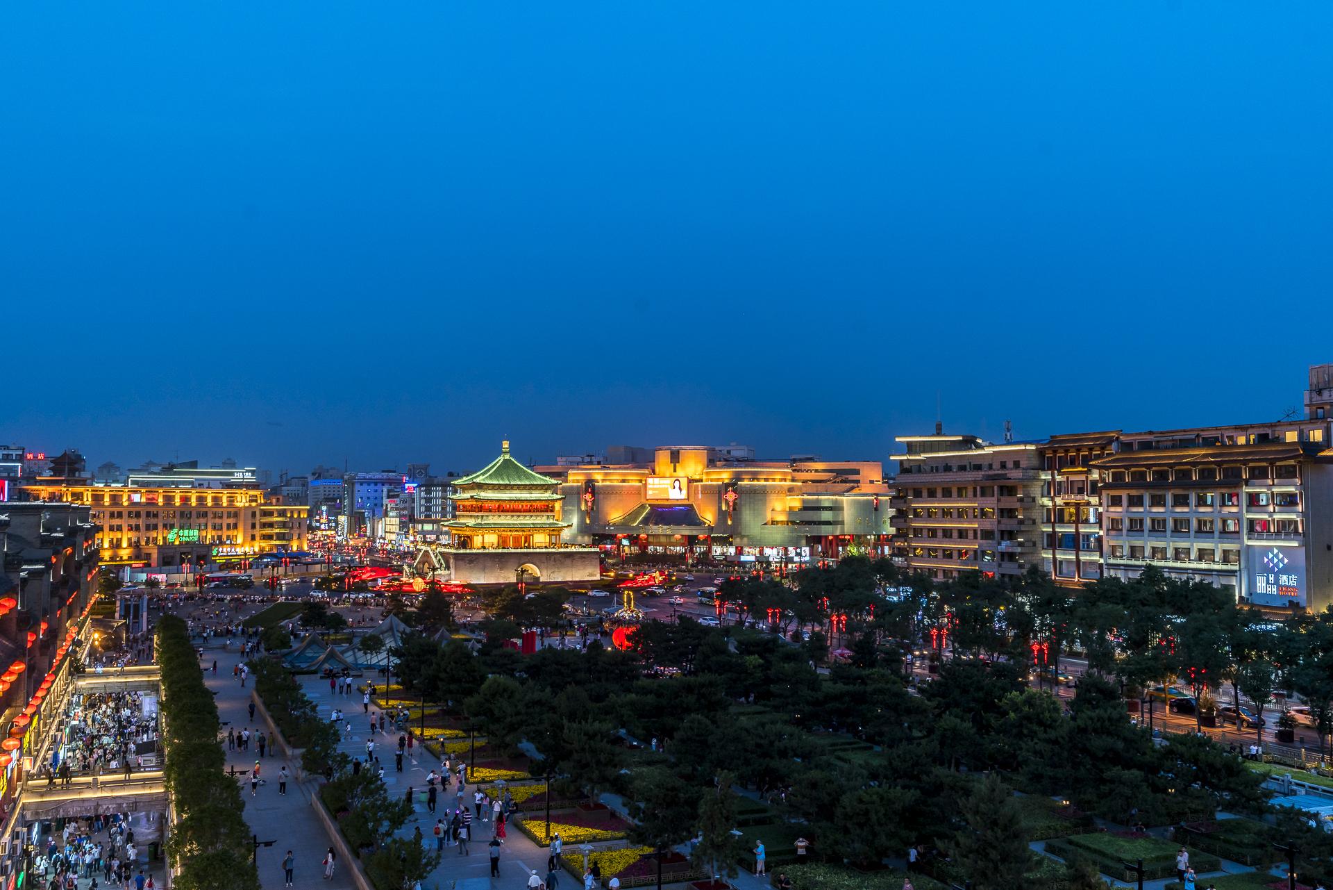 Xi'an Beleuchtung Bell Tower