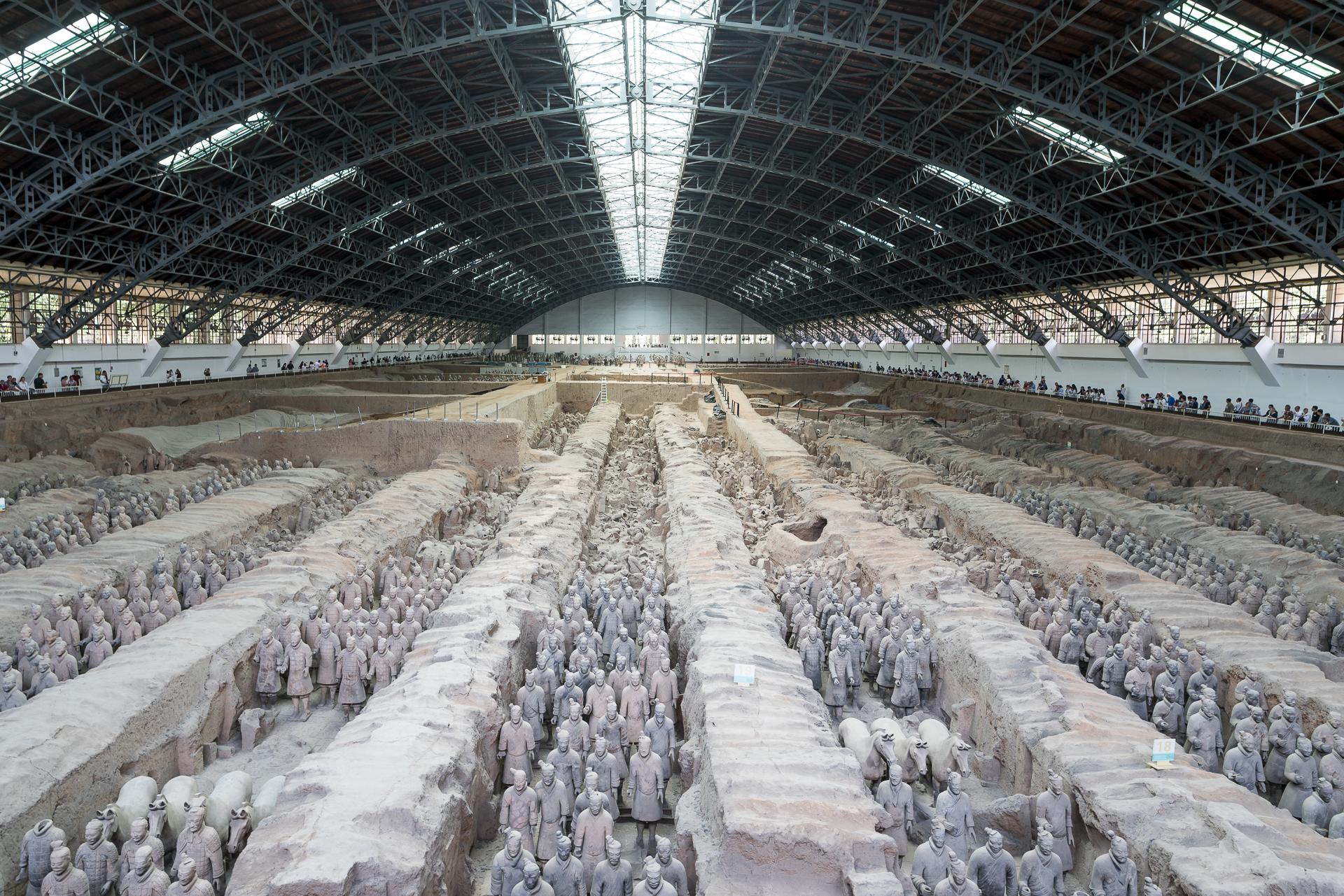 Mausoleum Qin Shihuangdis bei Xi'an