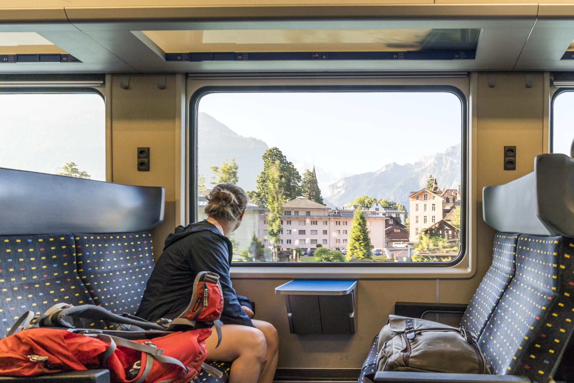 Einfahrt in Interlaken