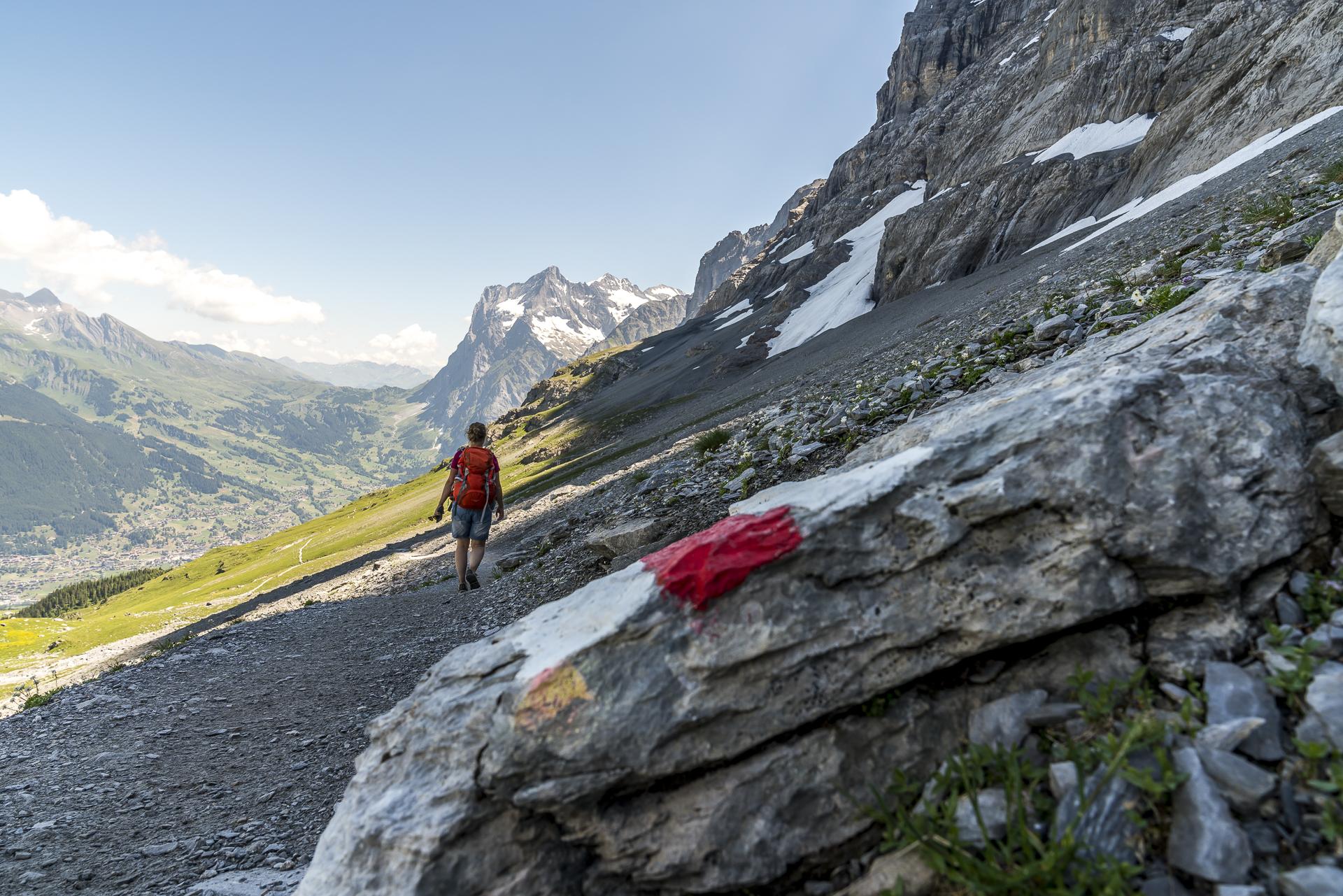 Wanderwegmarkierung Eiger Trail